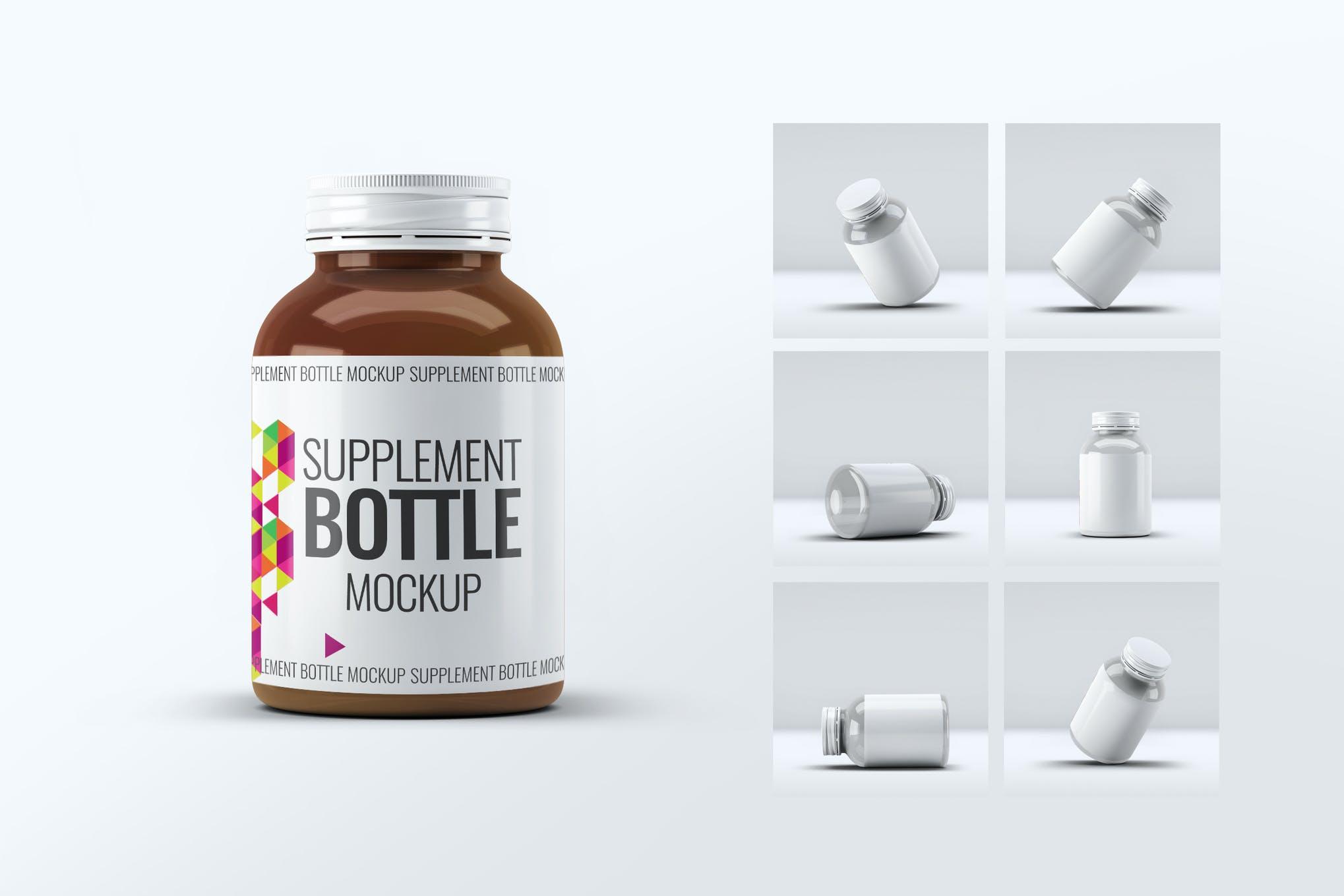 保养品瓶子包装样机效果图插图(1)