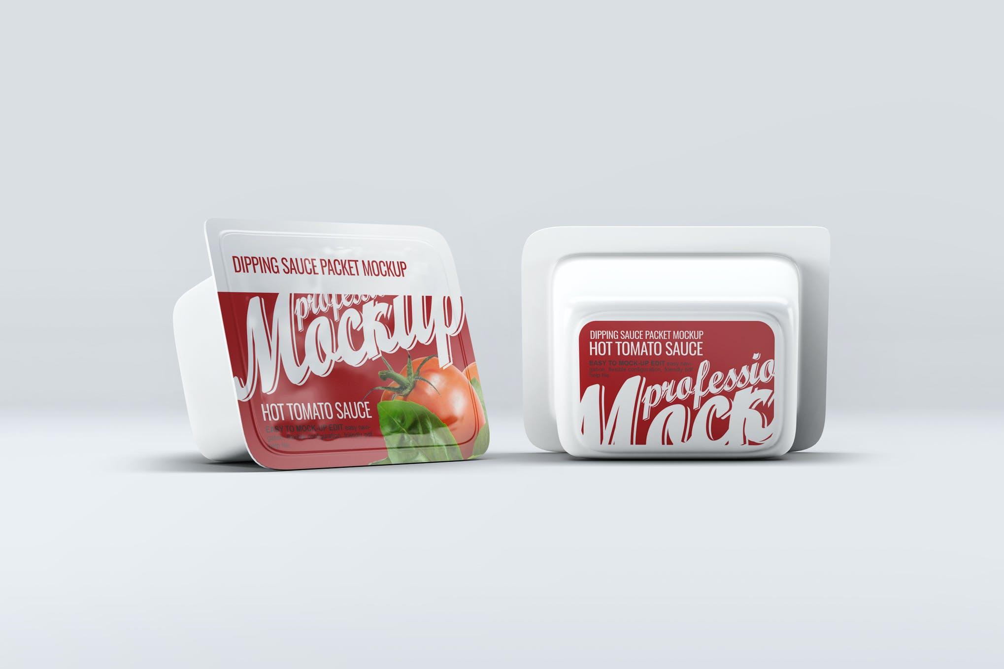 番茄酱小包装盒样机效果图插图(1)