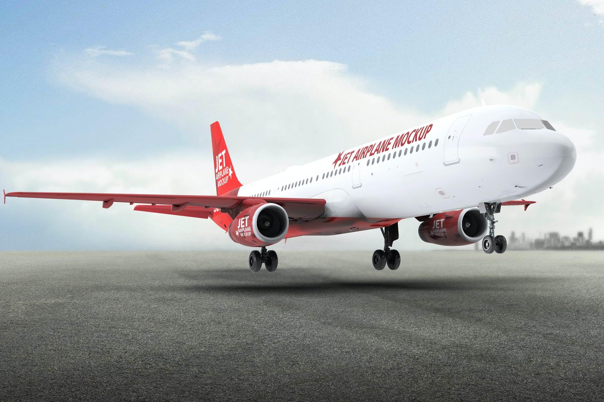 A321飞机样机效果图插图(1)