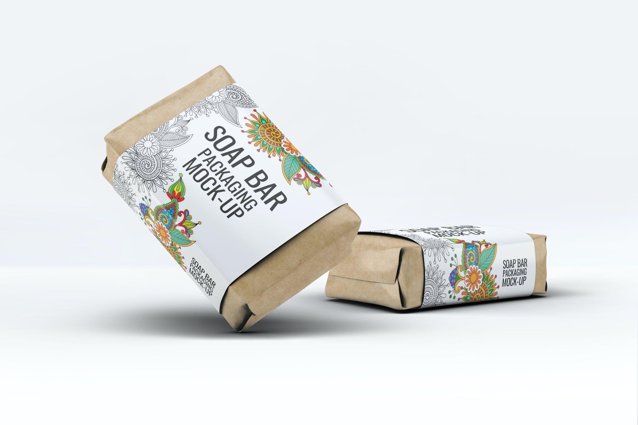 香皂纸包装样机效果图插图(1)