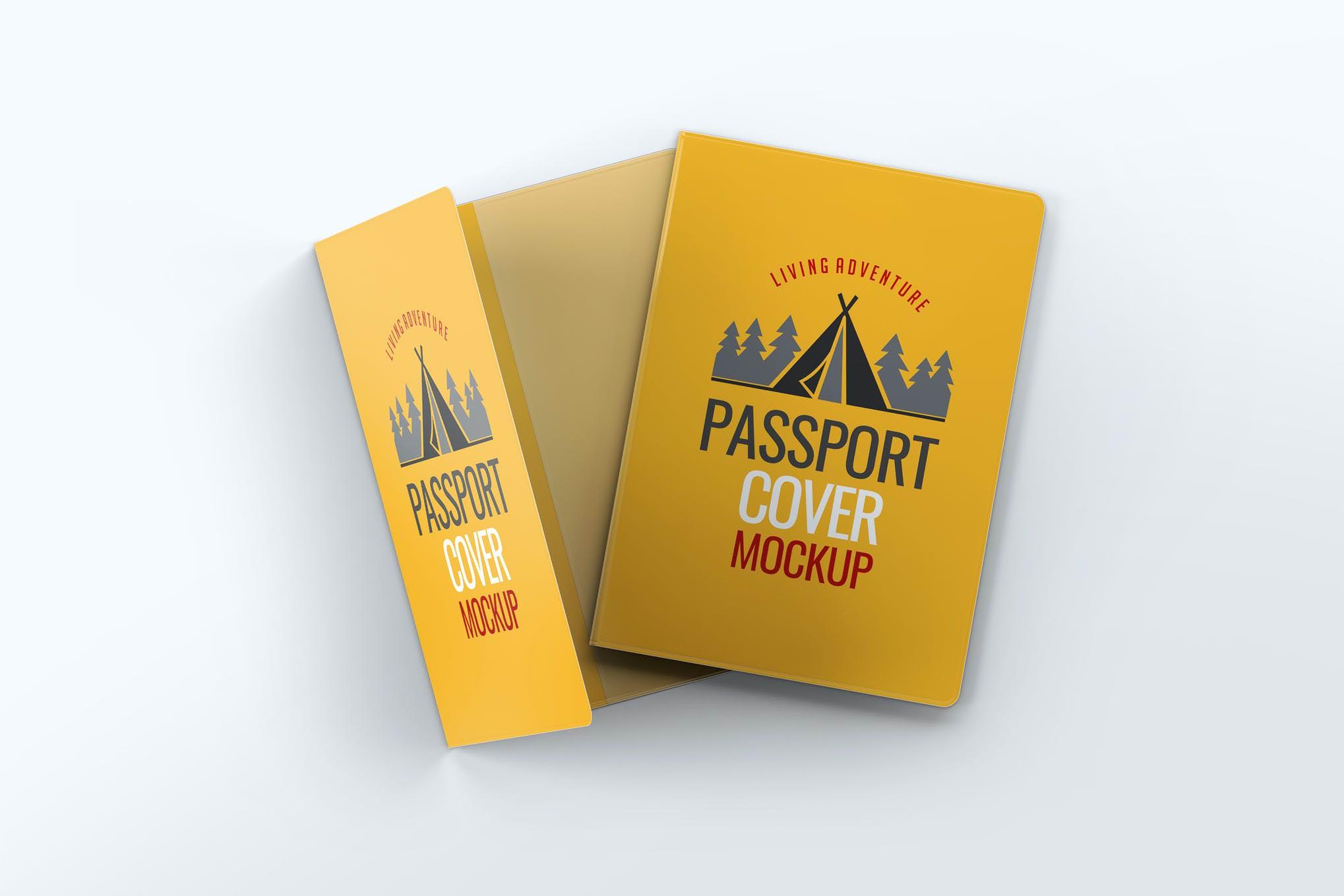 护照封面样机效果图插图(1)