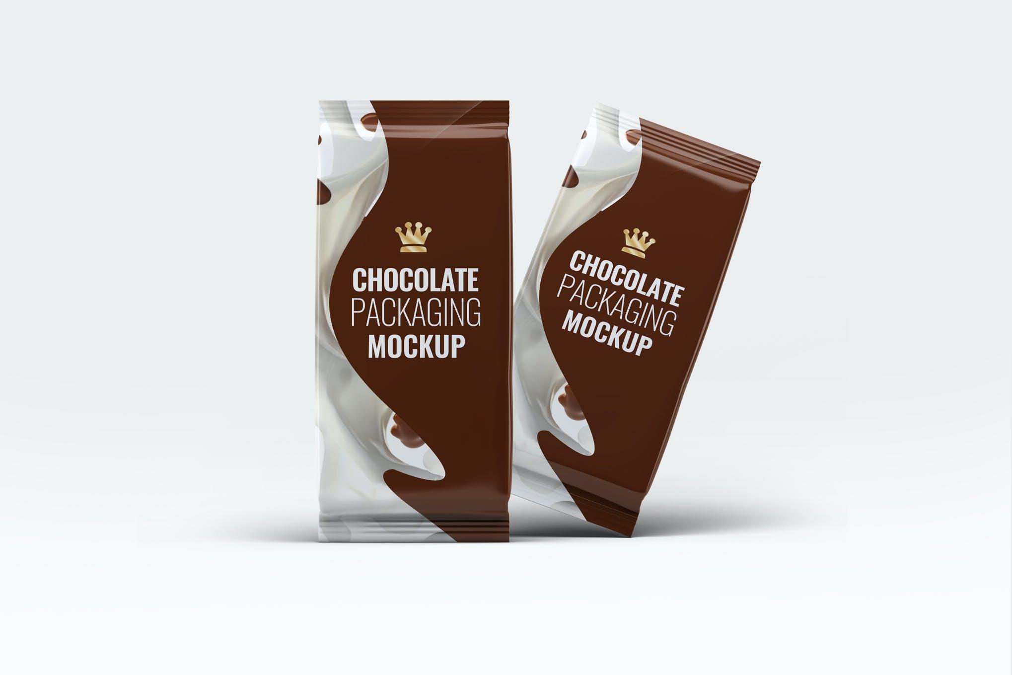 咖啡巧克力包装袋样机效果图插图(1)