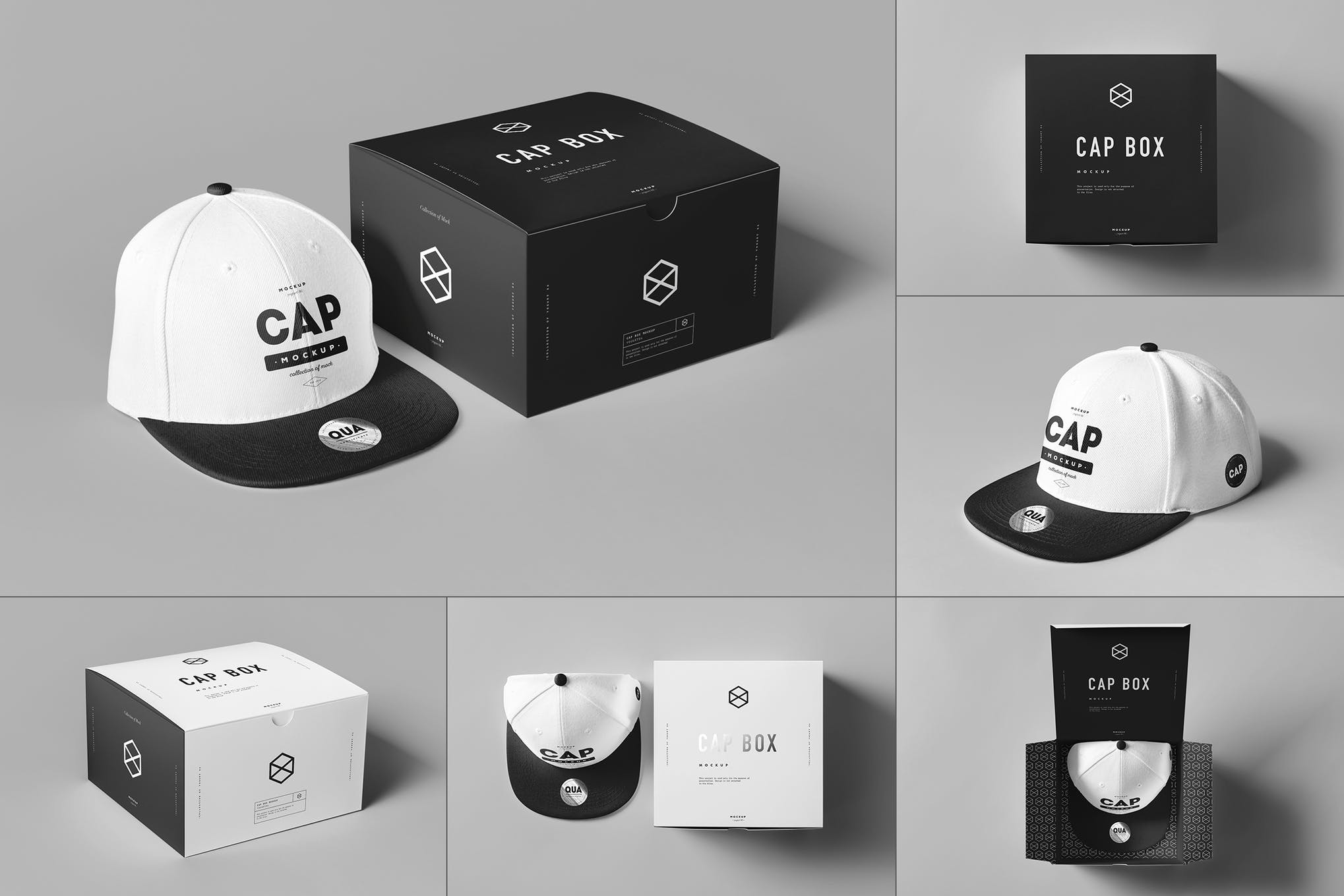 帽子带盒包装样机效果图插图(1)