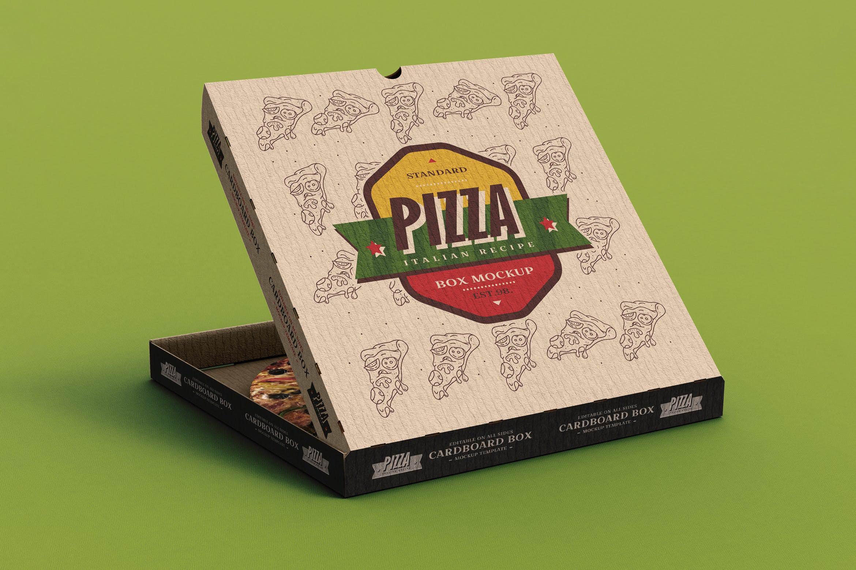 披萨盒样机效果图插图(1)