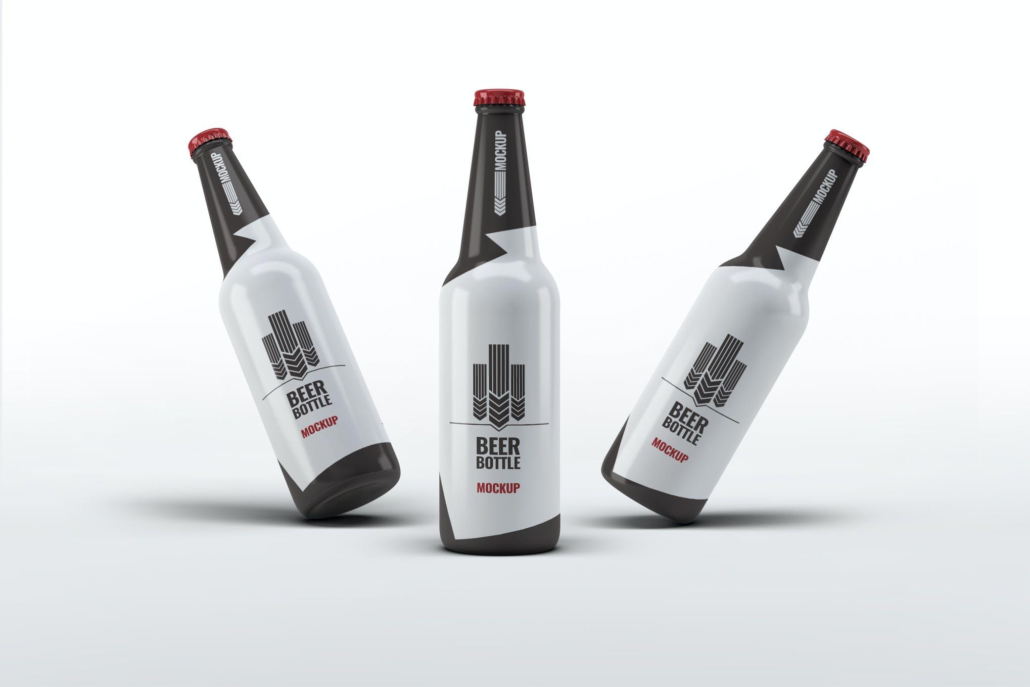 啤酒瓶样式2样机效果图插图(1)