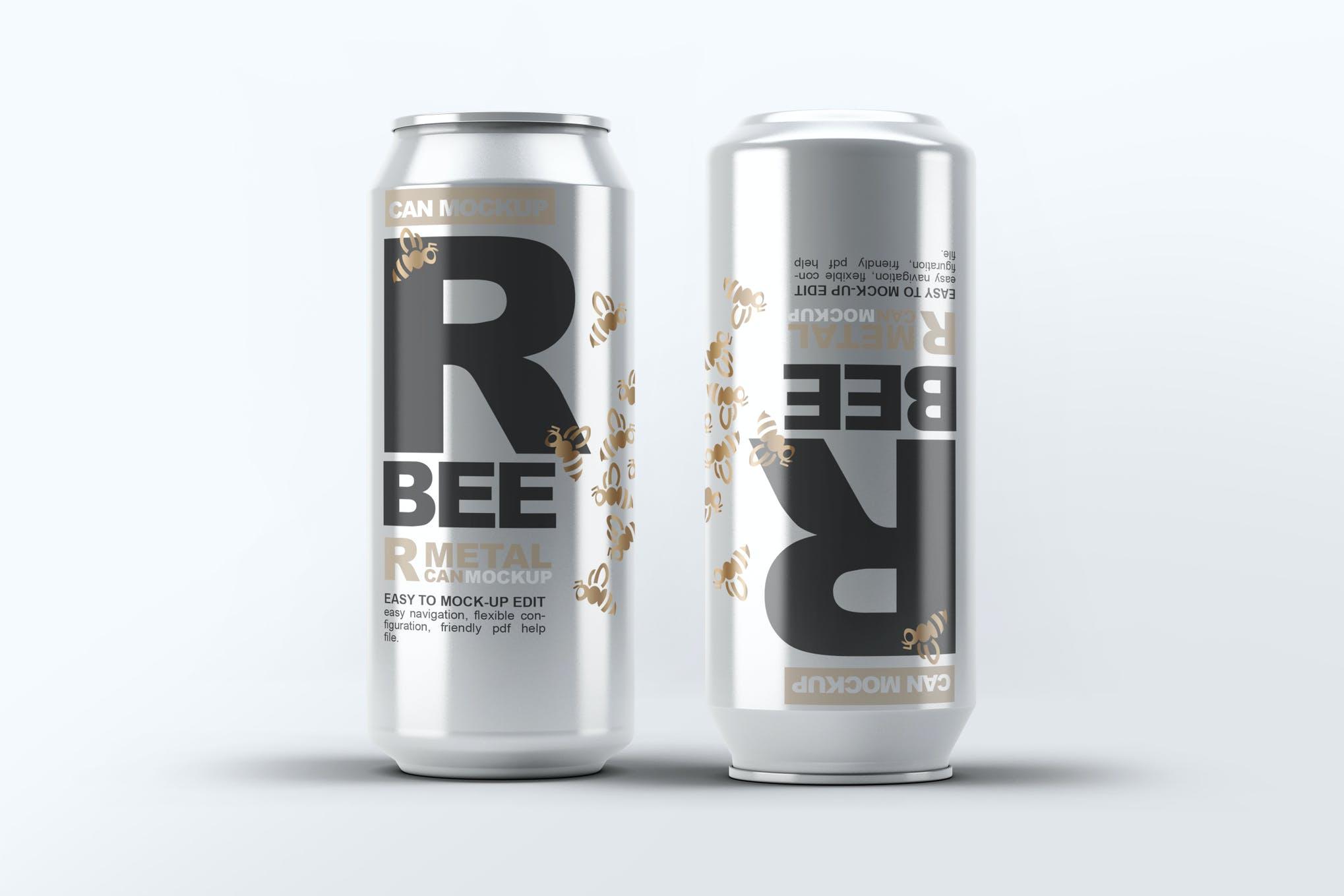 啤酒饮料易拉罐样机效果图插图(1)