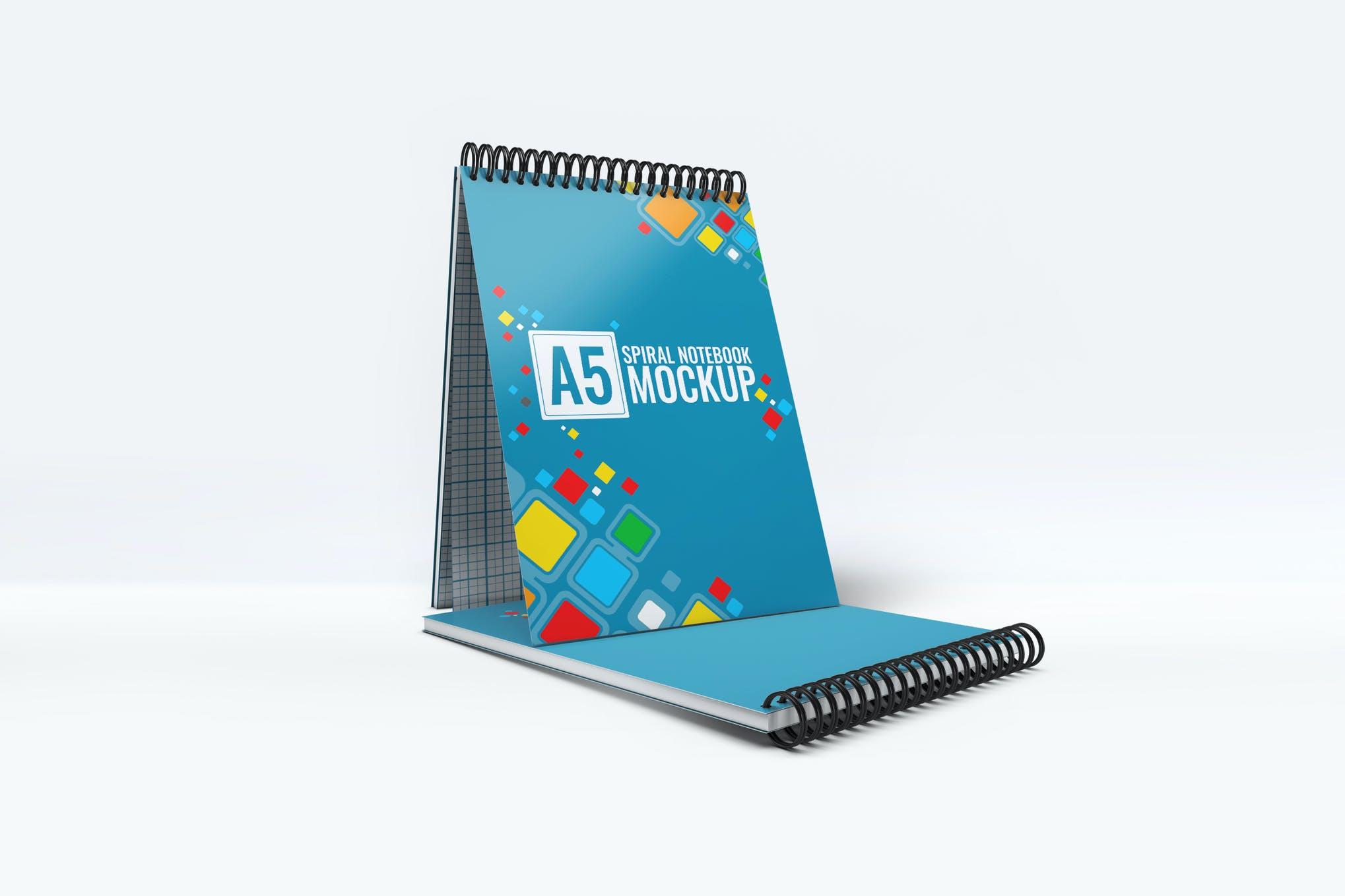 A5笔记本样机效果图插图(1)