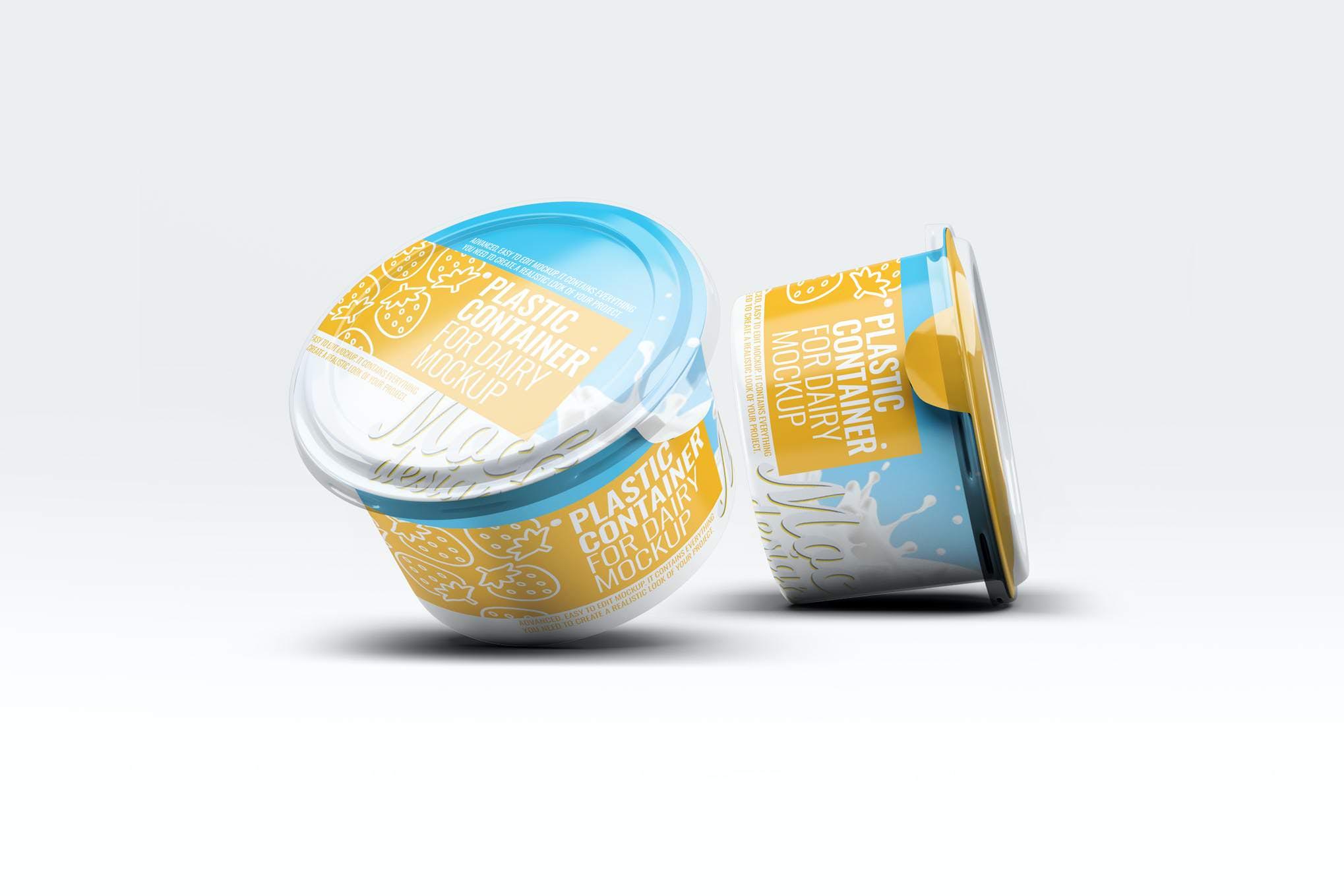 酸奶盒样机效果图插图(1)