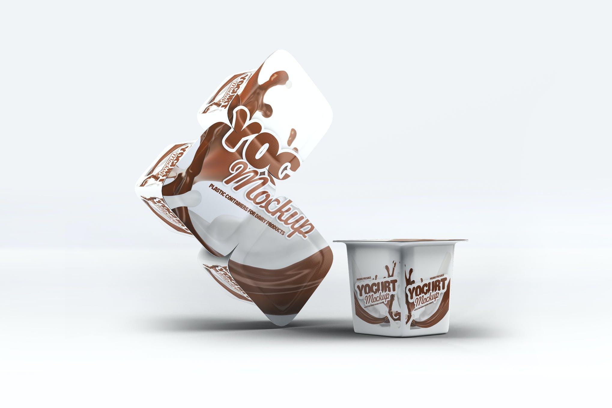 酸奶包装盒样机效果图插图(1)