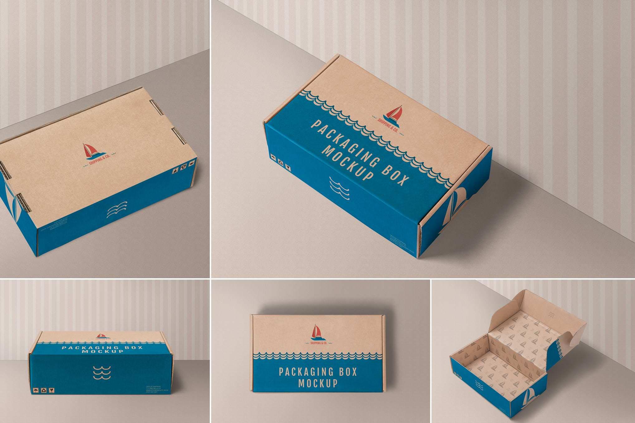 鞋盒款式1样机效果图插图(1)