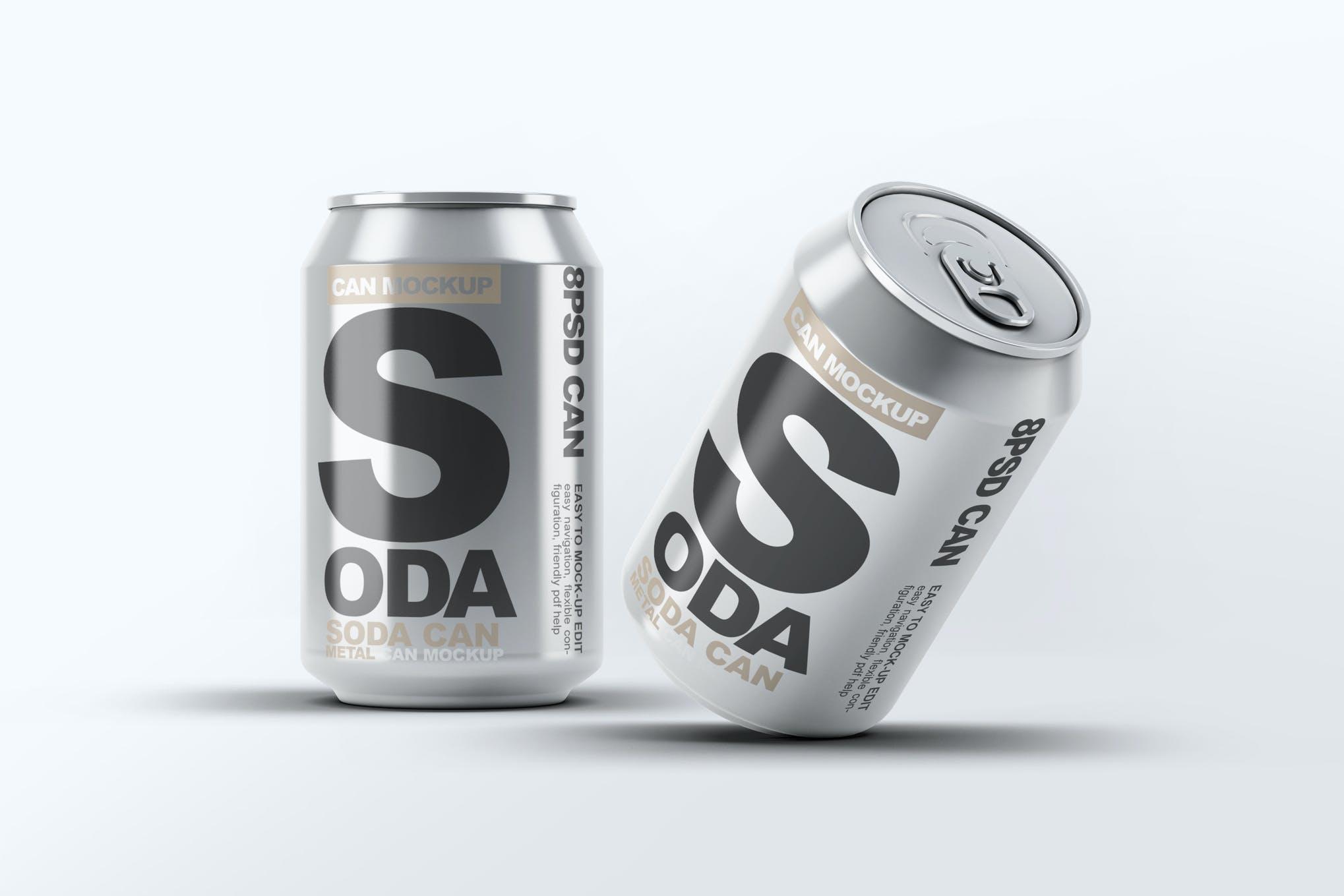 碳酸饮料易拉罐样机效果图插图(1)