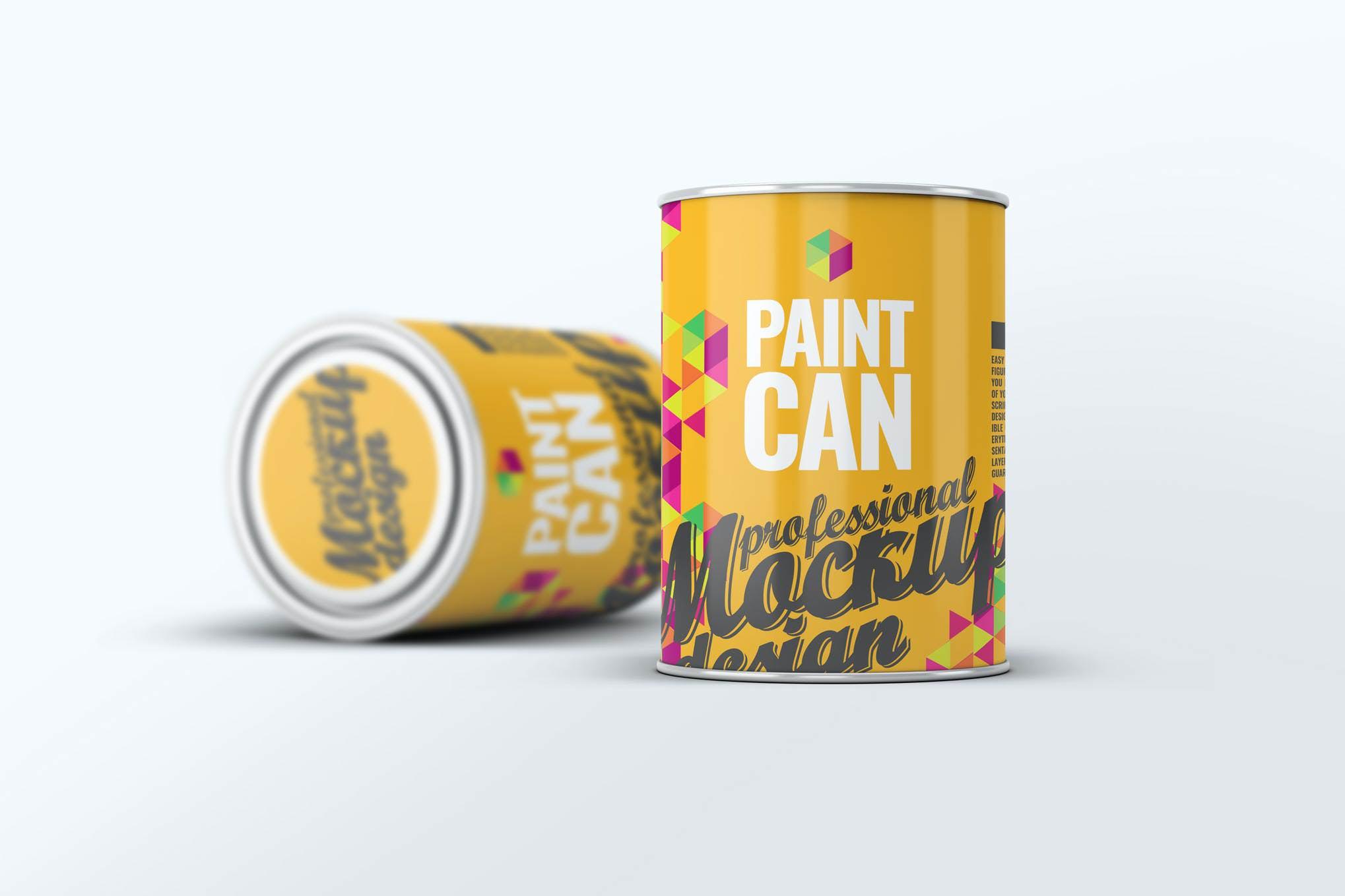油漆桶样机效果图插图(1)
