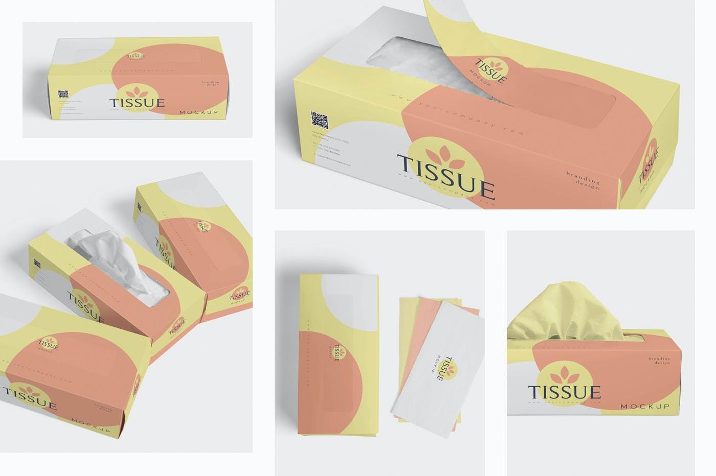 纸抽盒装样机效果图插图(1)