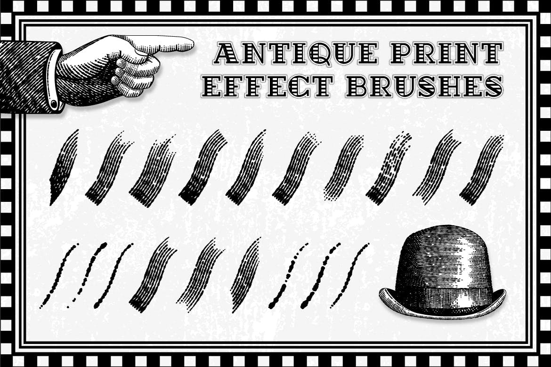 32套AI古董印刷效果笔刷插图(1)
