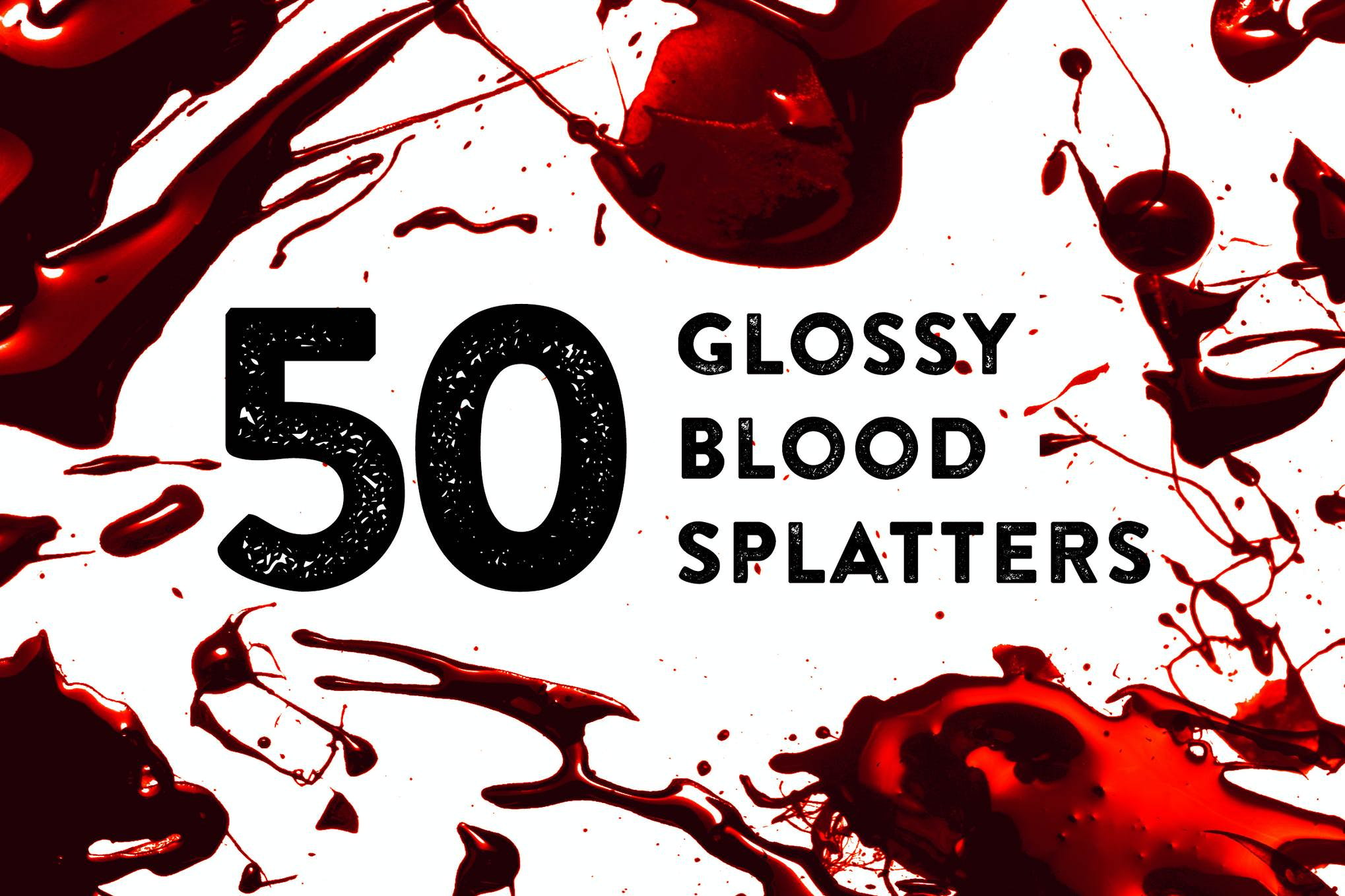 50套PS血液效果笔刷插图(1)