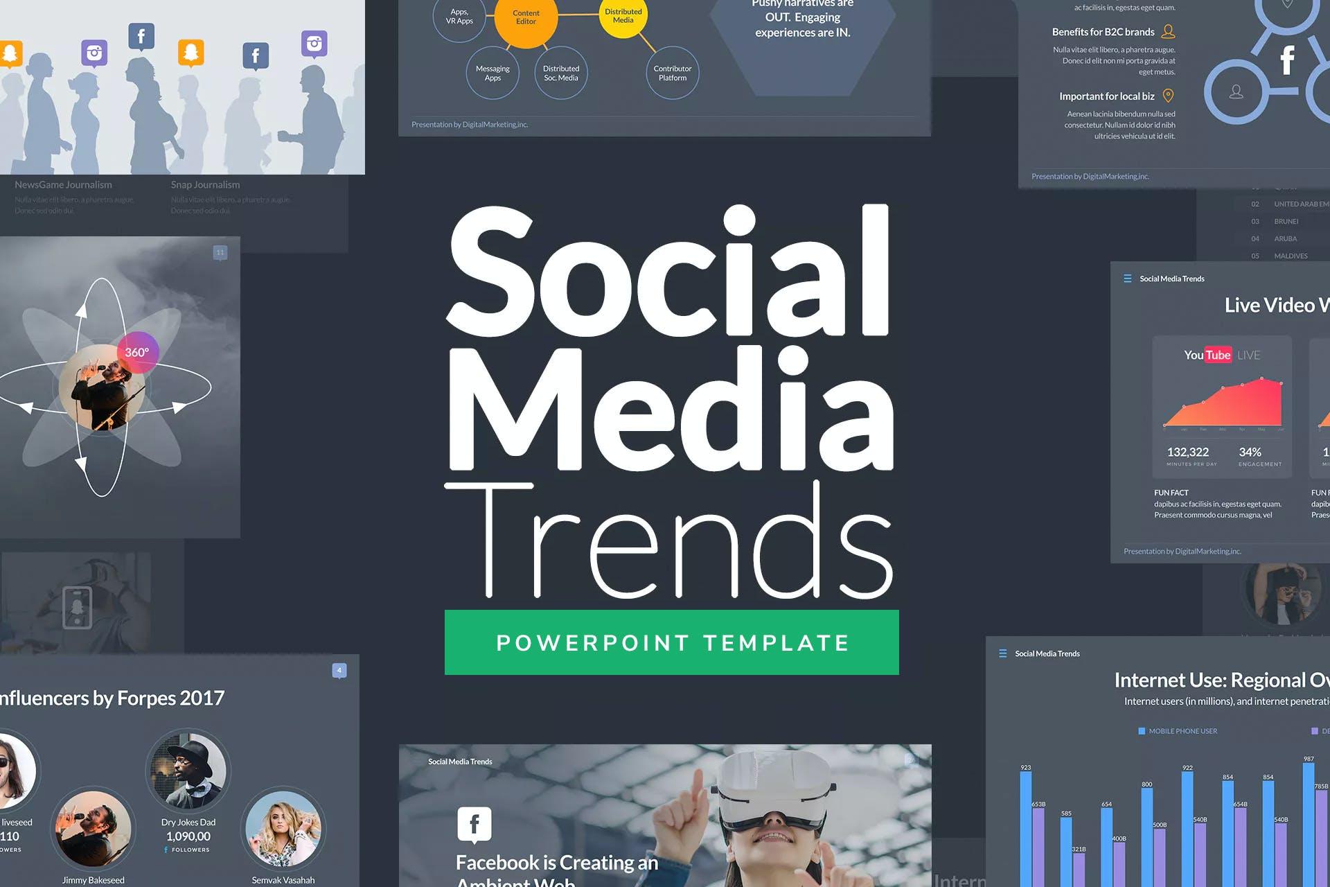 社交趋势PPT模板插图(1)