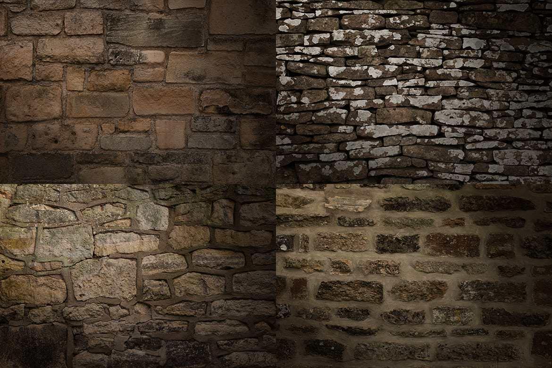 20套PS石墙纹理材质效果背景插图(5)
