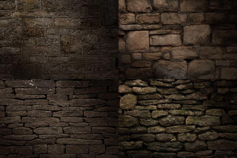 20套PS石墙纹理材质效果背景插图(7)