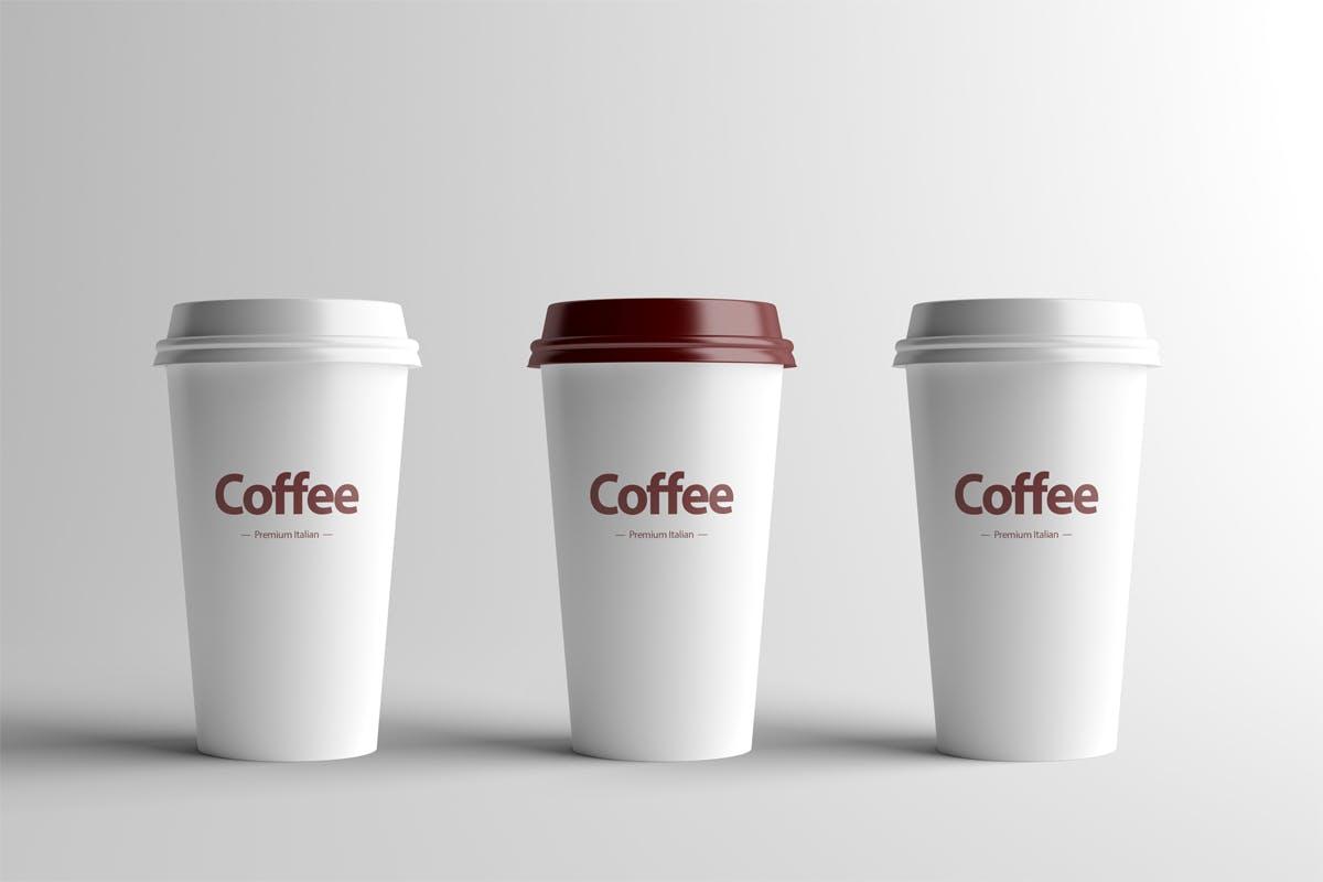 纸质咖啡杯样机效果图插图(1)