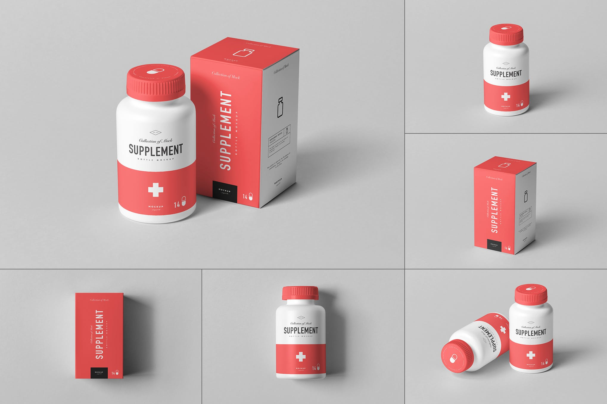 药瓶和药盒 Ver.3样机效果图插图(1)