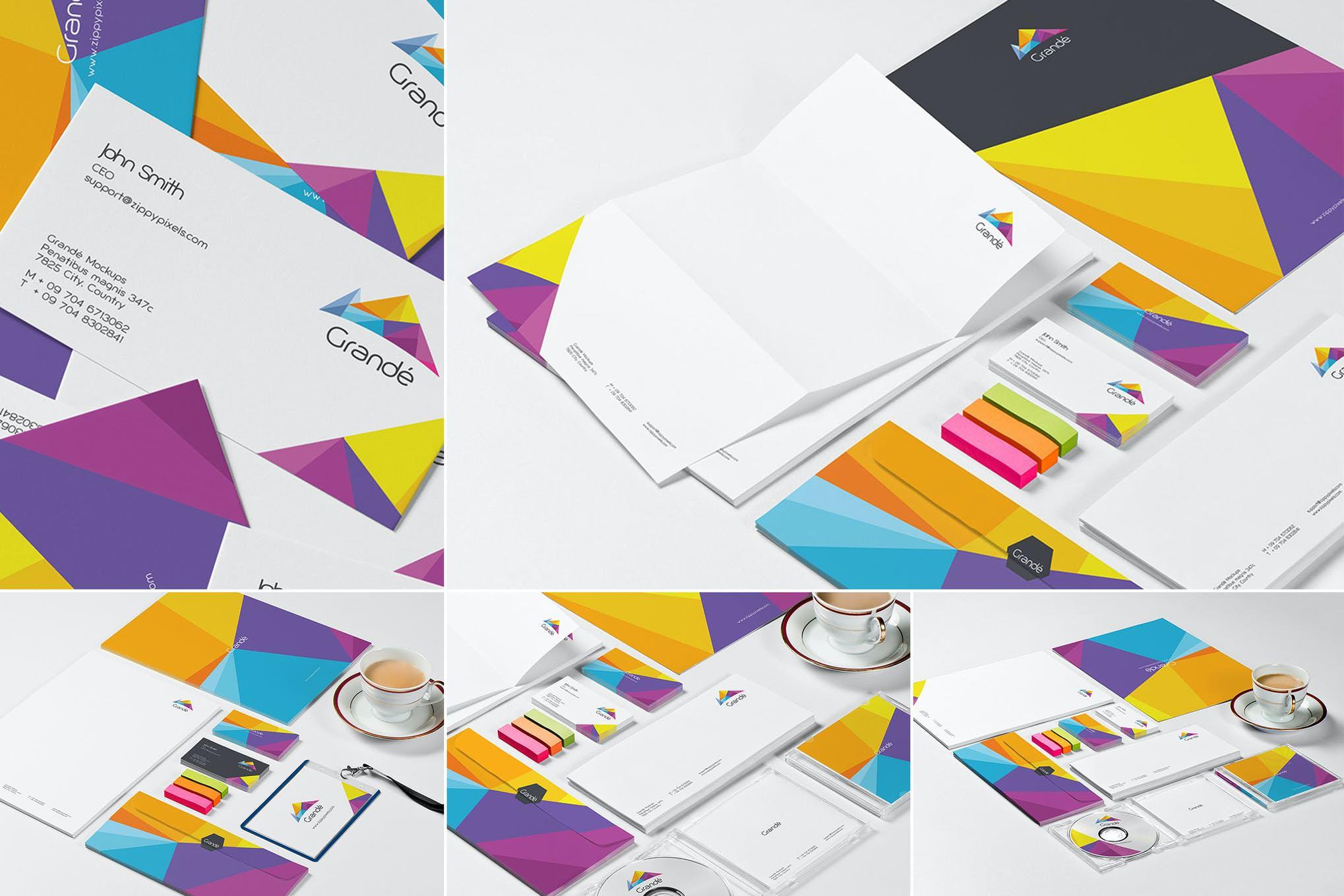 5套自定义办公场景品牌VI效果图插图(1)