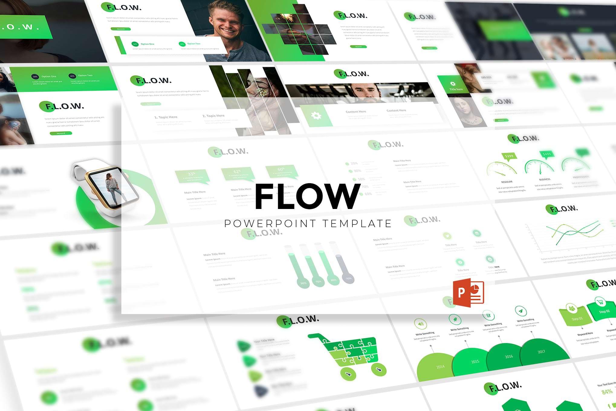 绿色简约高级商用PPT模板插图(1)