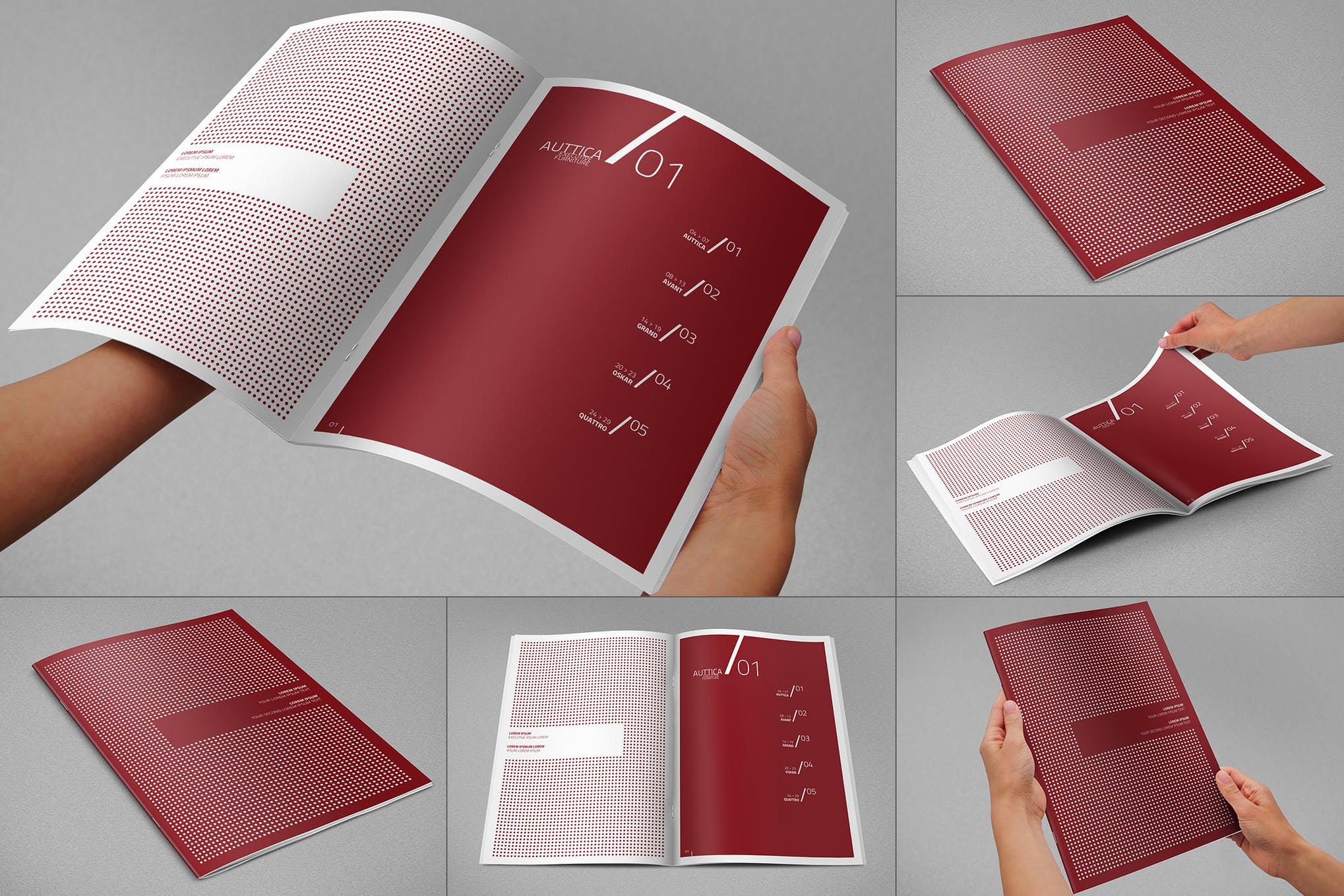 A4画册效果样机图插图(1)
