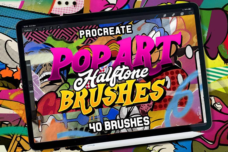 40套PROCREATE流行艺术风格笔刷插图(3)