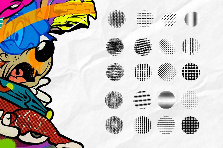 40套PROCREATE流行艺术风格笔刷插图(5)