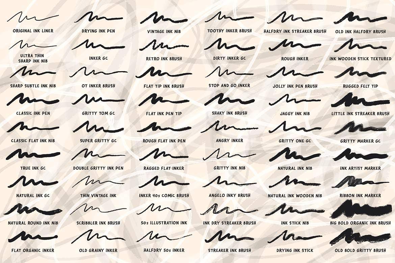 84套PS墨水水墨风格笔刷插图(5)