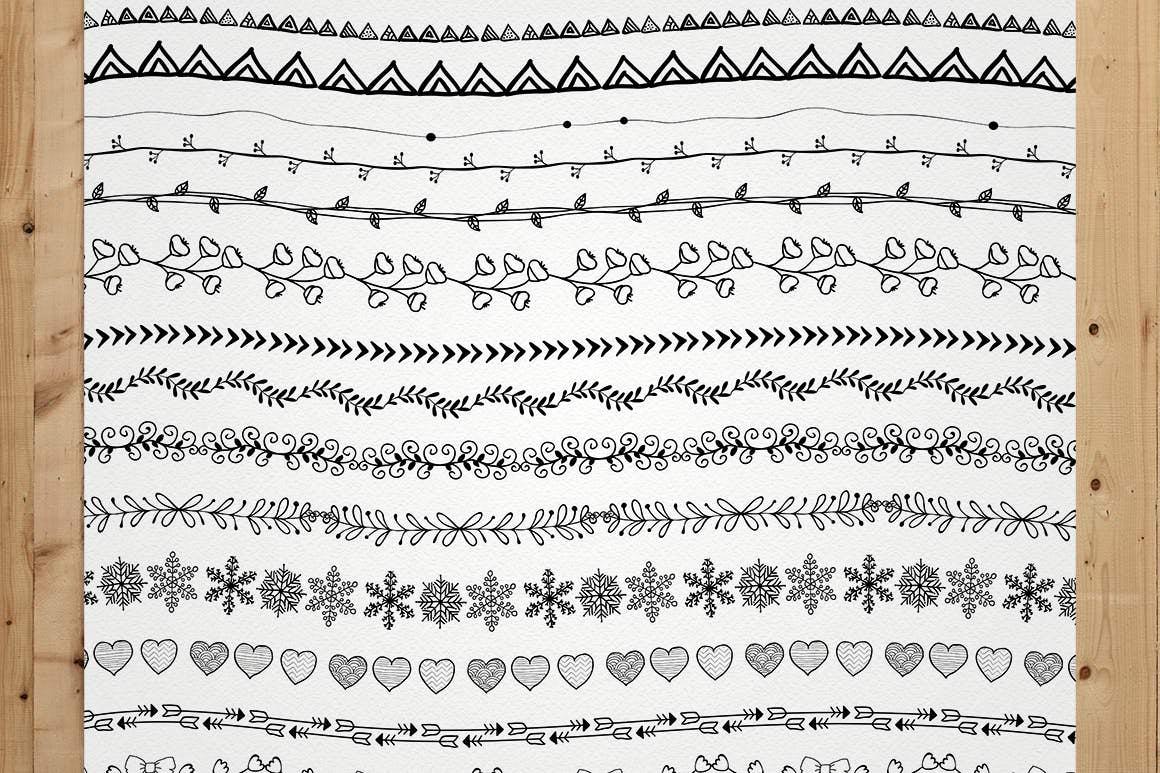 100+套AI纹理矢量图风格笔刷插图(7)