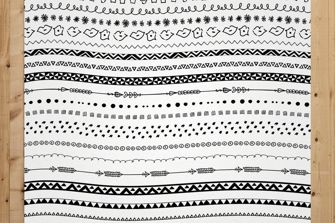 100+套AI纹理矢量图风格笔刷插图(9)