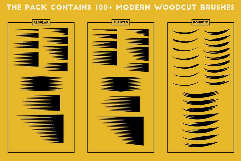 100+套AI现代木刻笔刷插图(3)