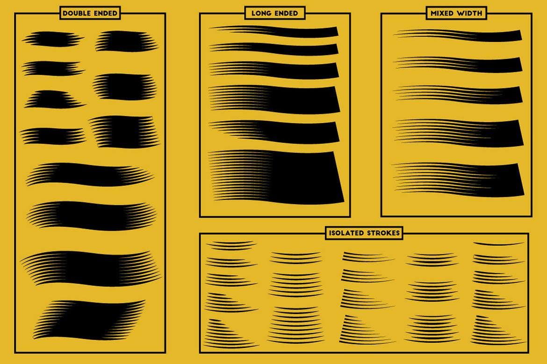 100+套AI现代木刻笔刷插图(5)