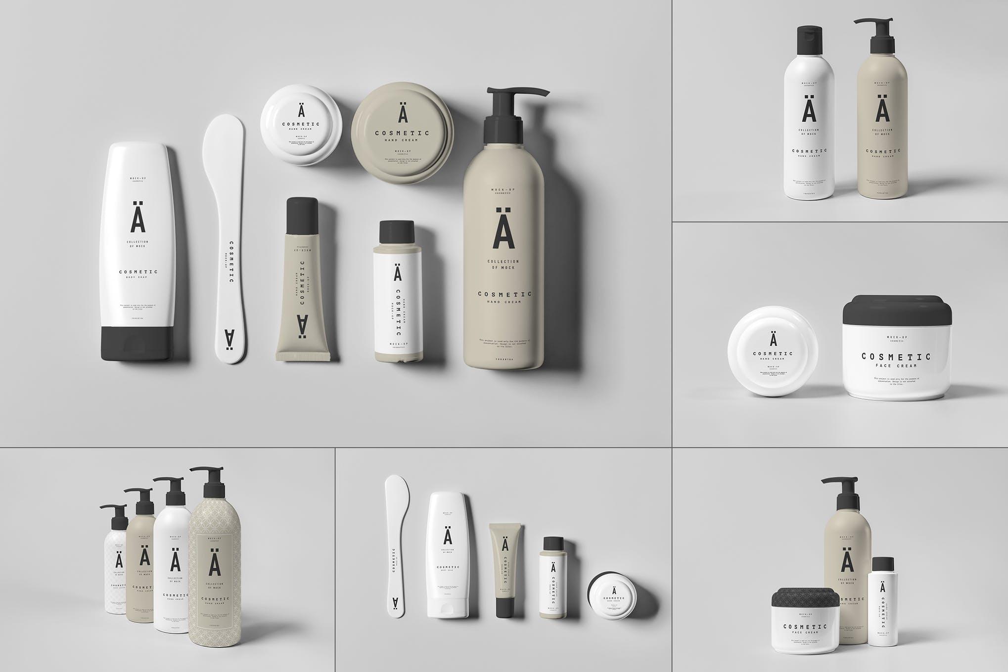 化妆品洗漱用品包装样机效果图插图(1)