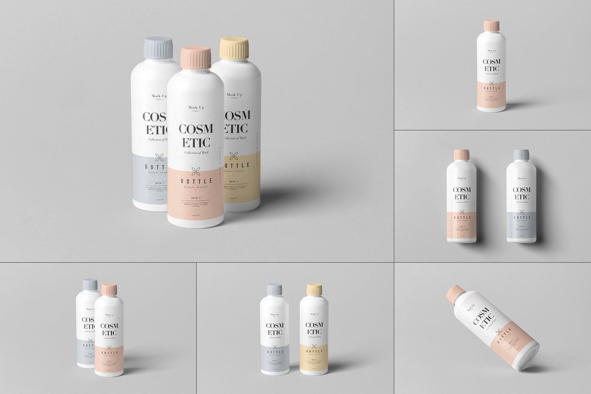 化妆瓶保湿水包装瓶样机效果图插图(1)