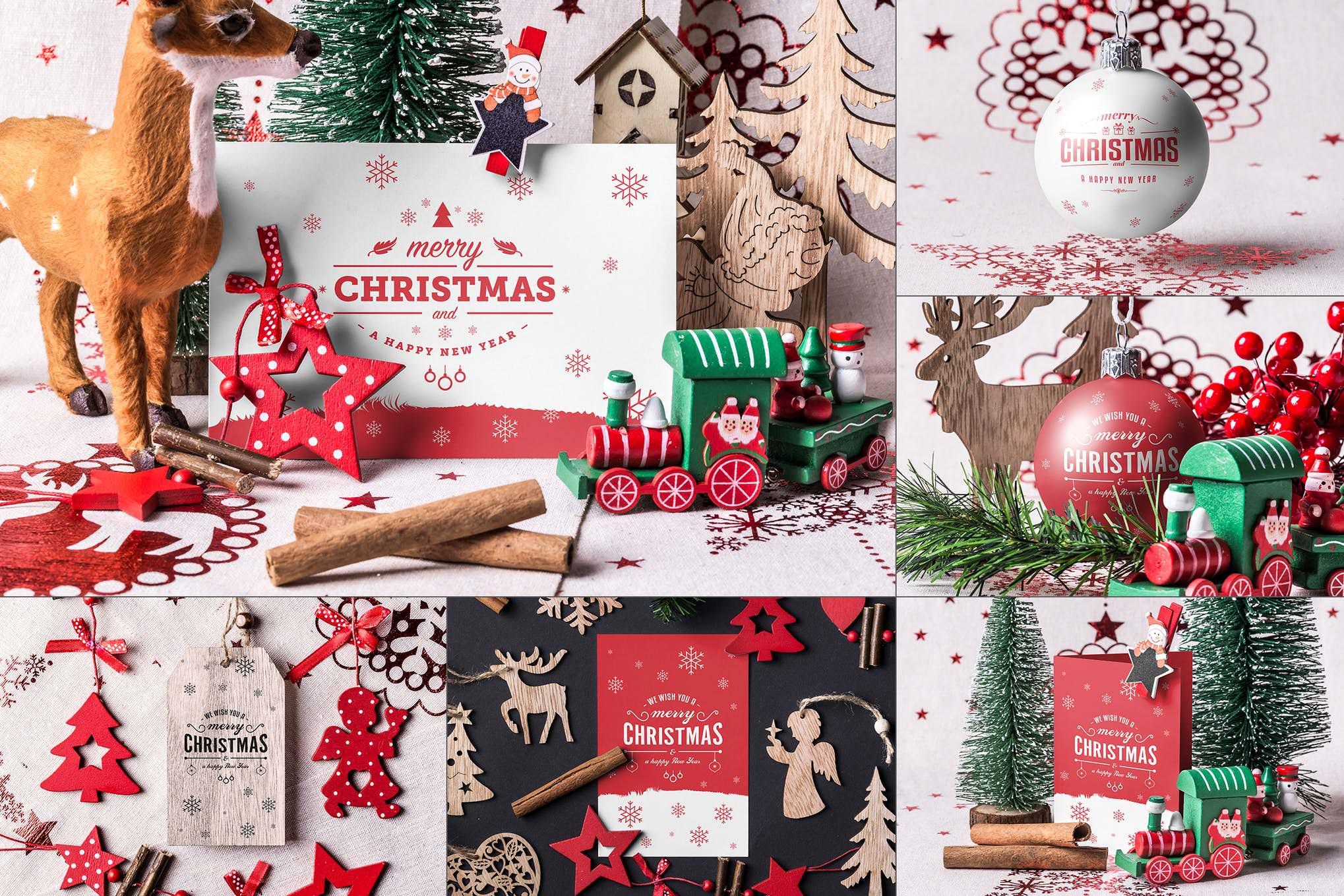 圣诞节场景物品样机效果图插图(1)