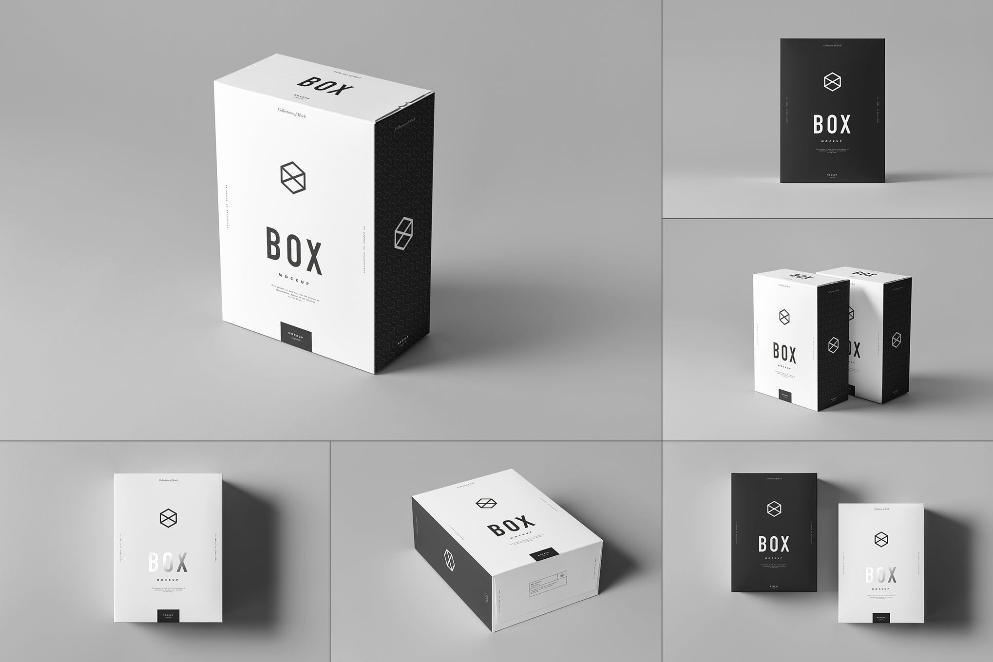 纸质礼品盒包装盒样机效果图插图(1)