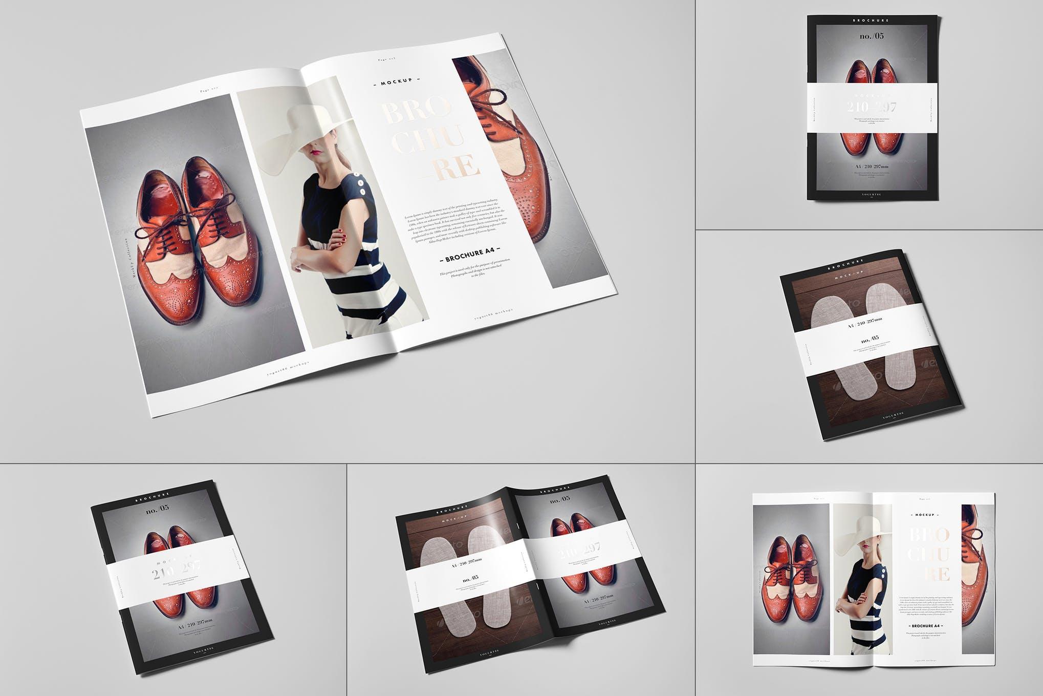 A4二折宣传册样机效果图插图(1)