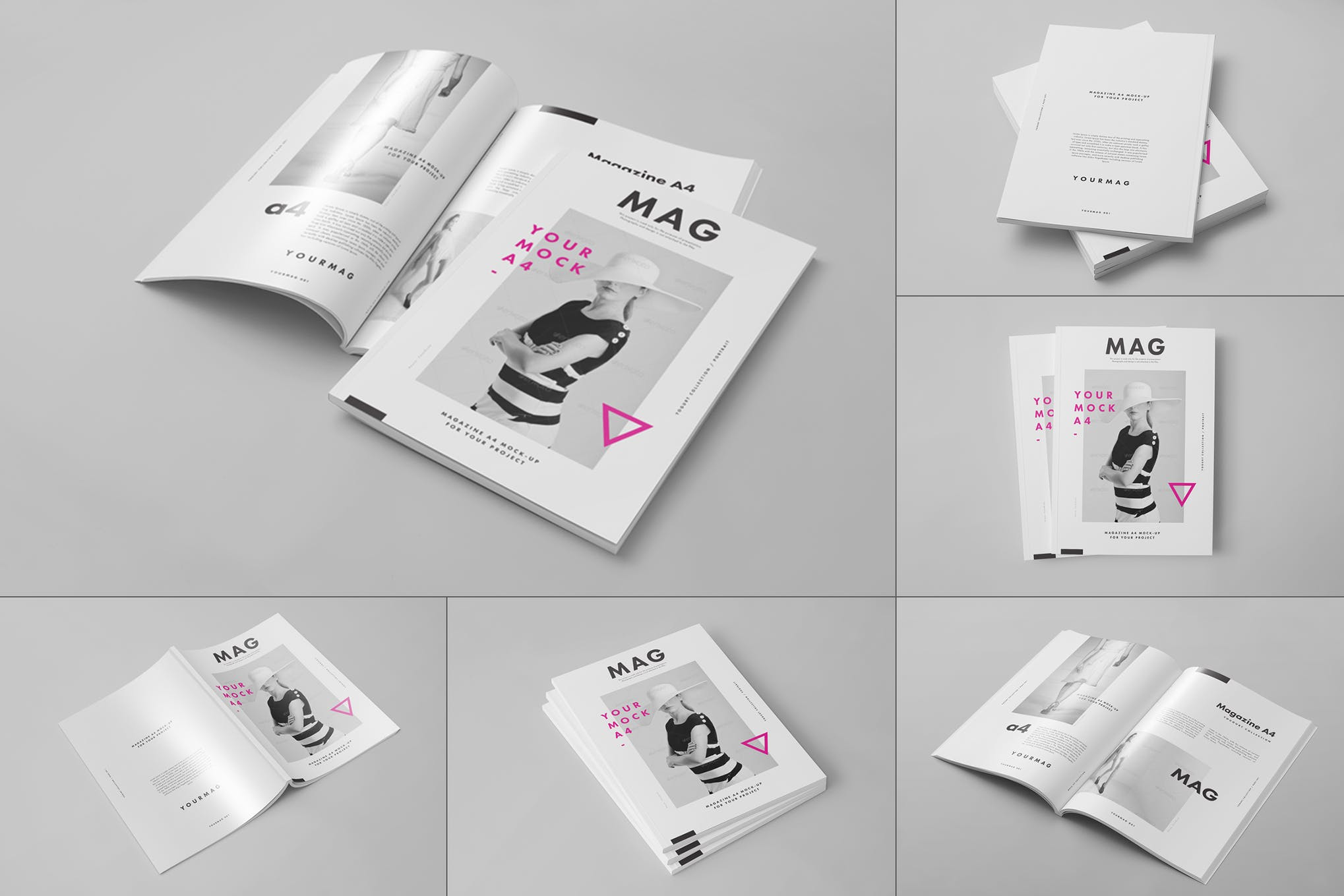 A4杂志画册样机效果图插图(1)