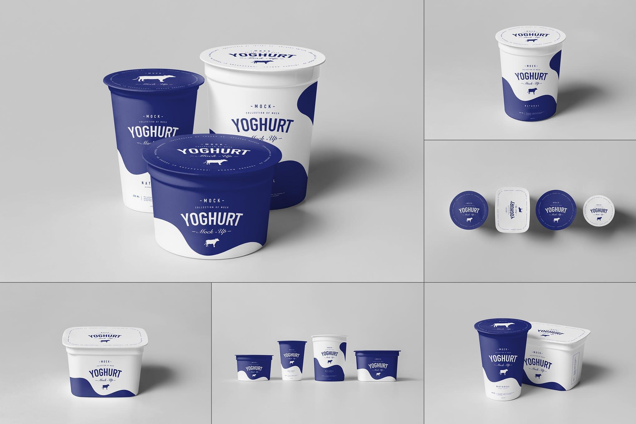 3种款式酸奶包装盒 Ver.2 样机效果图插图(1)