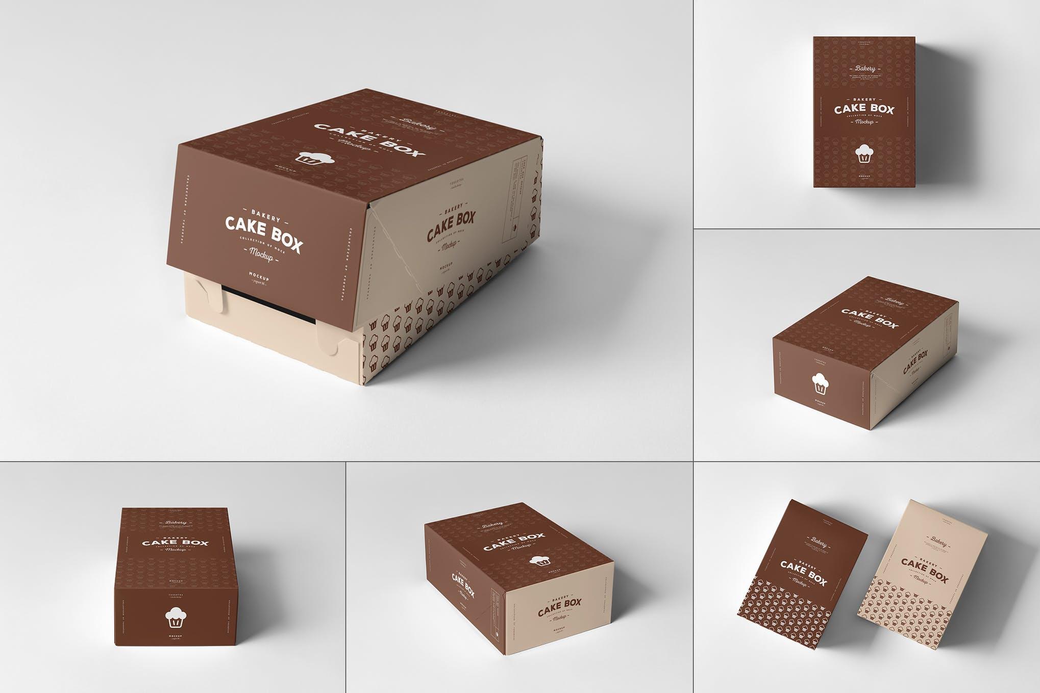 蛋糕盒样机效果图插图(1)
