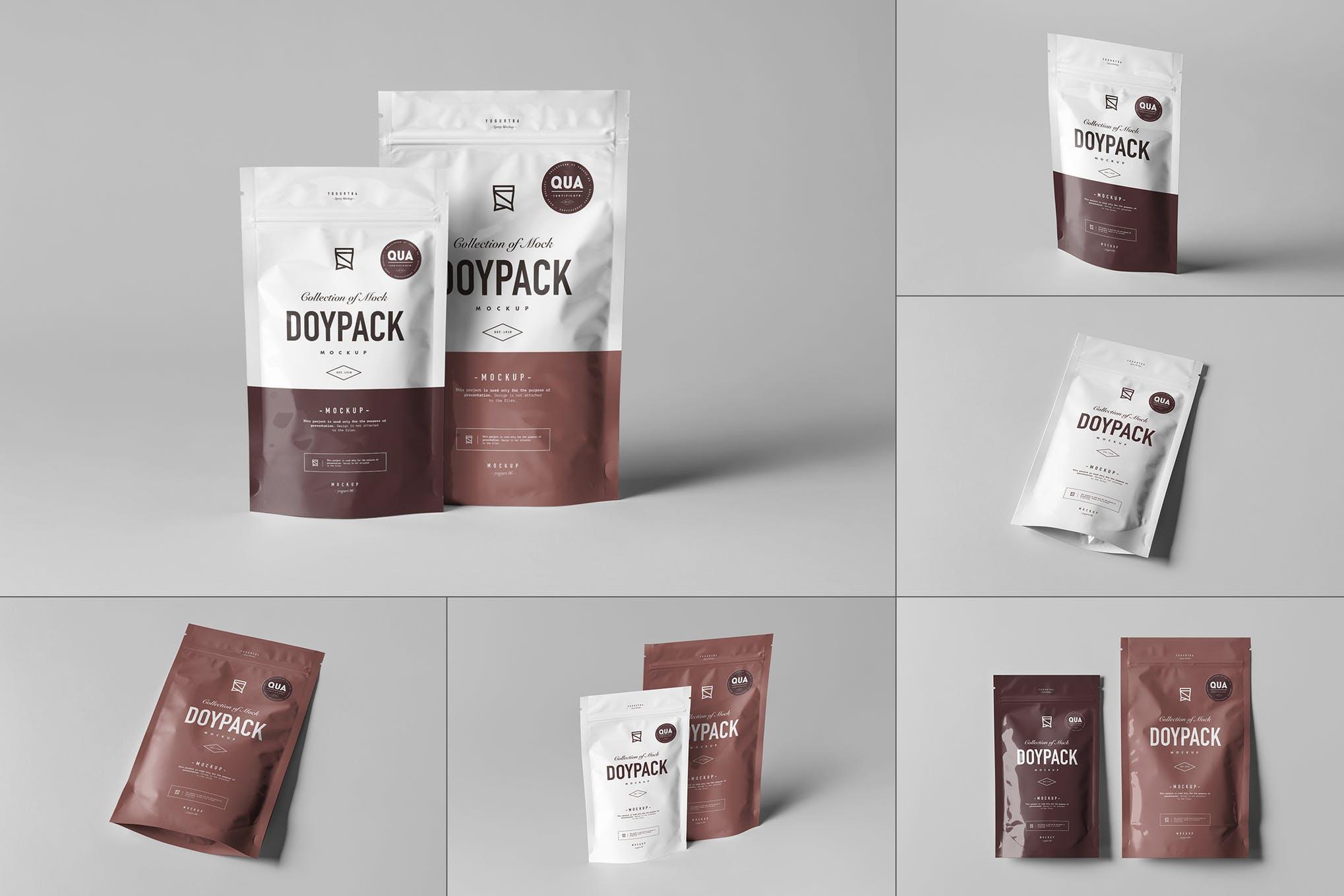 可密封式茶叶食品包装袋样机效果图插图(1)