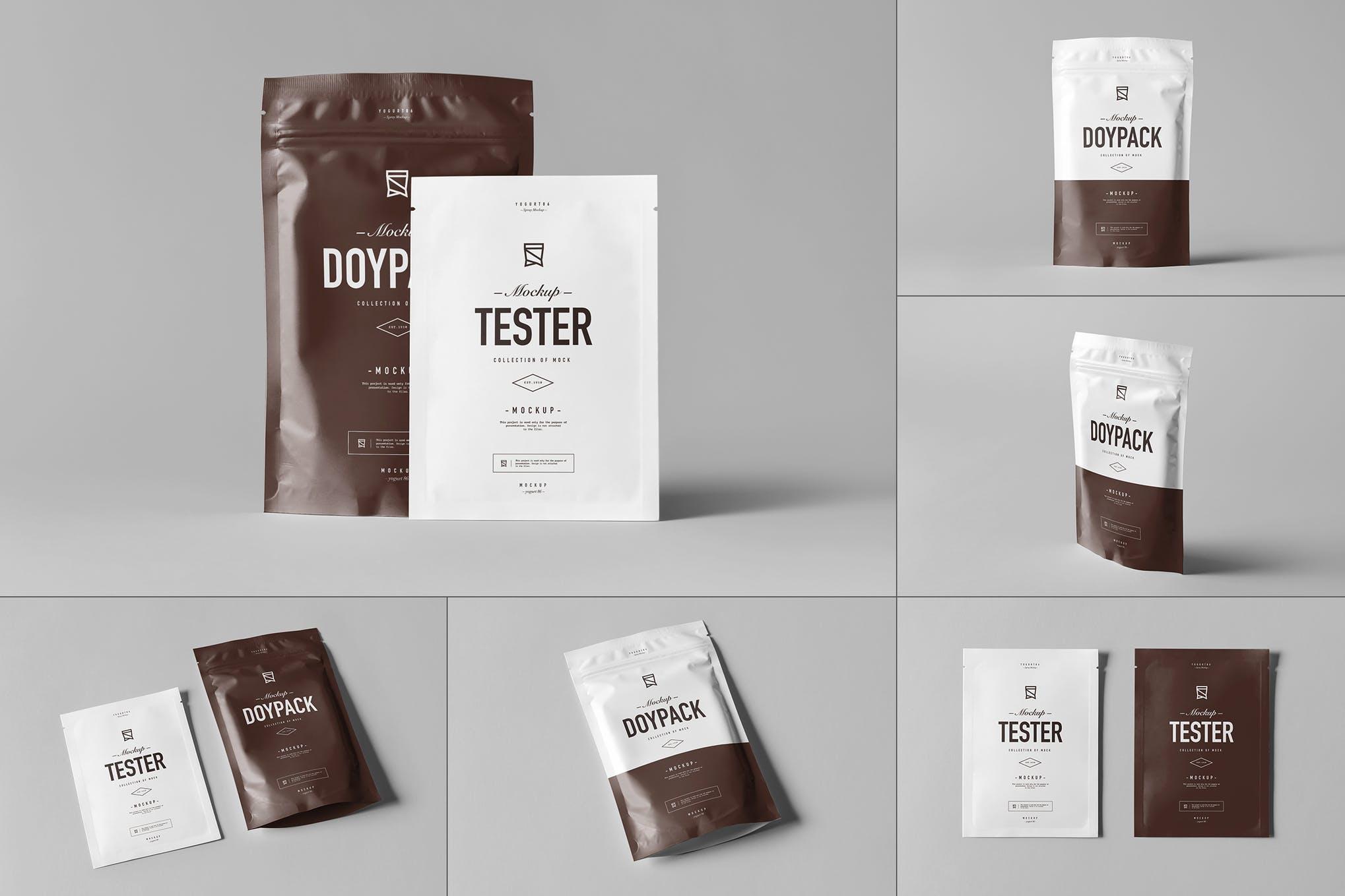 可密封式茶叶食品包装袋 Ver.3 样机效果图插图(1)