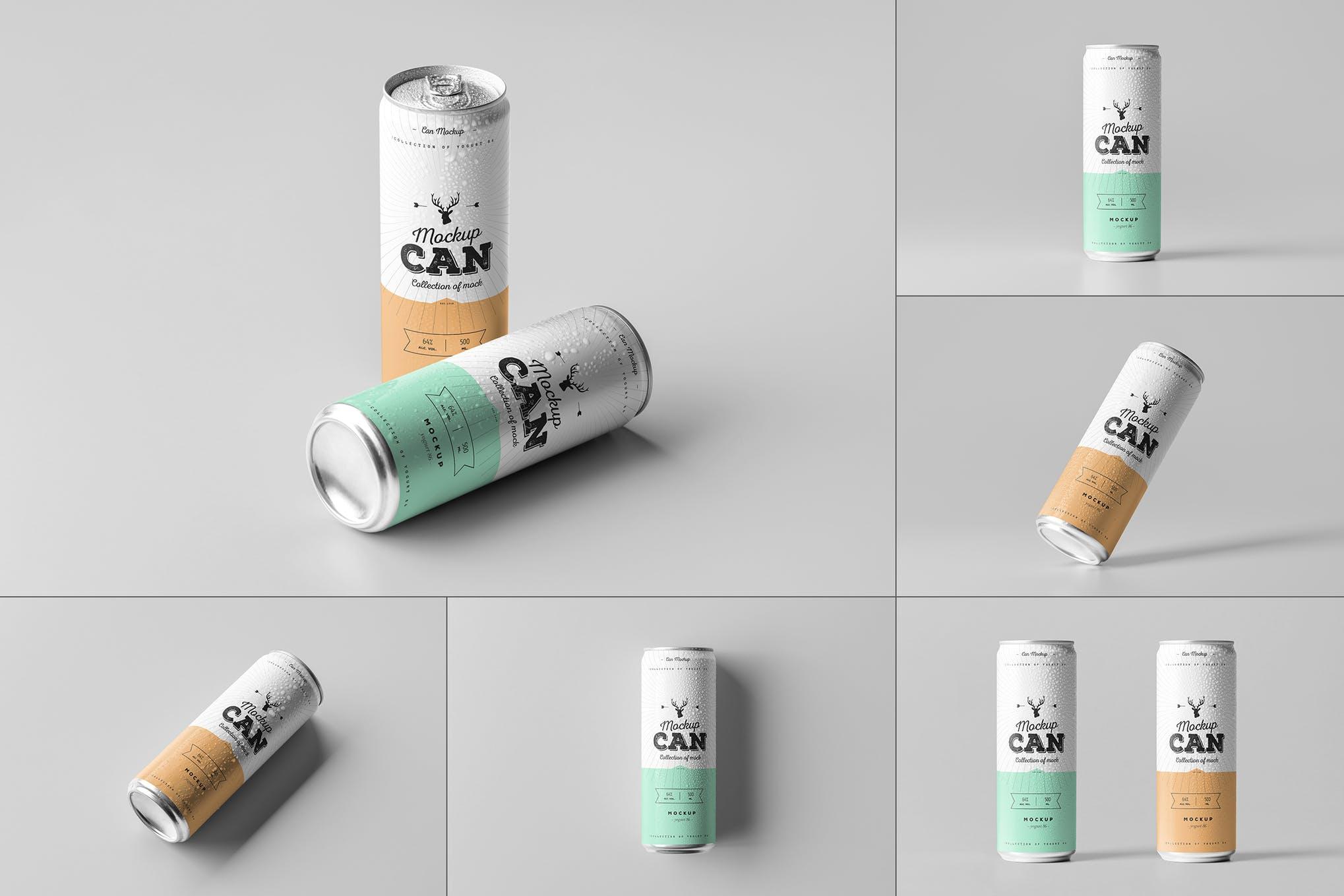 碳酸饮料啤酒易拉罐样机效果图插图(1)