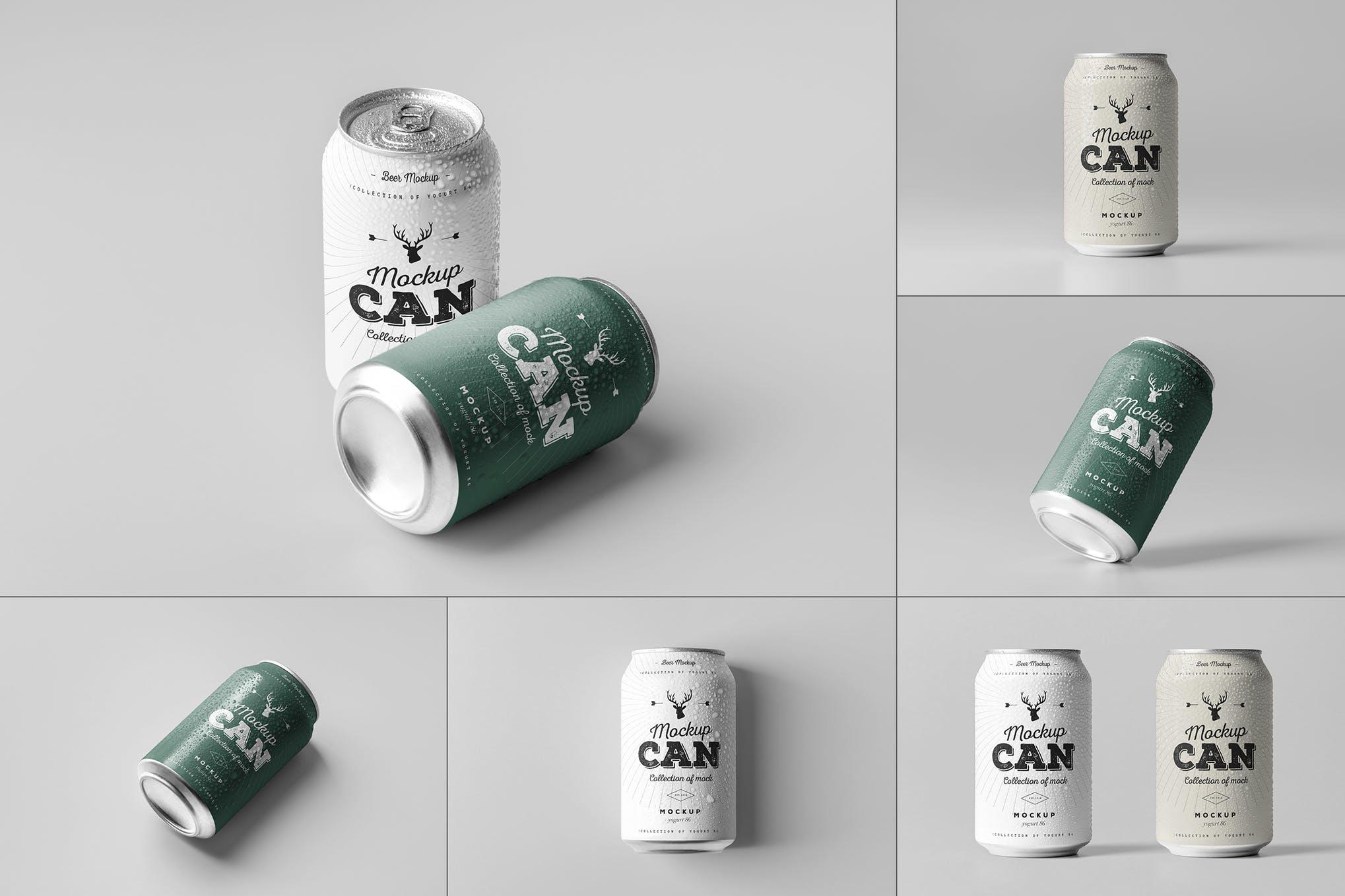 碳酸饮料啤酒易拉罐 Ver.1 样机效果图插图(1)