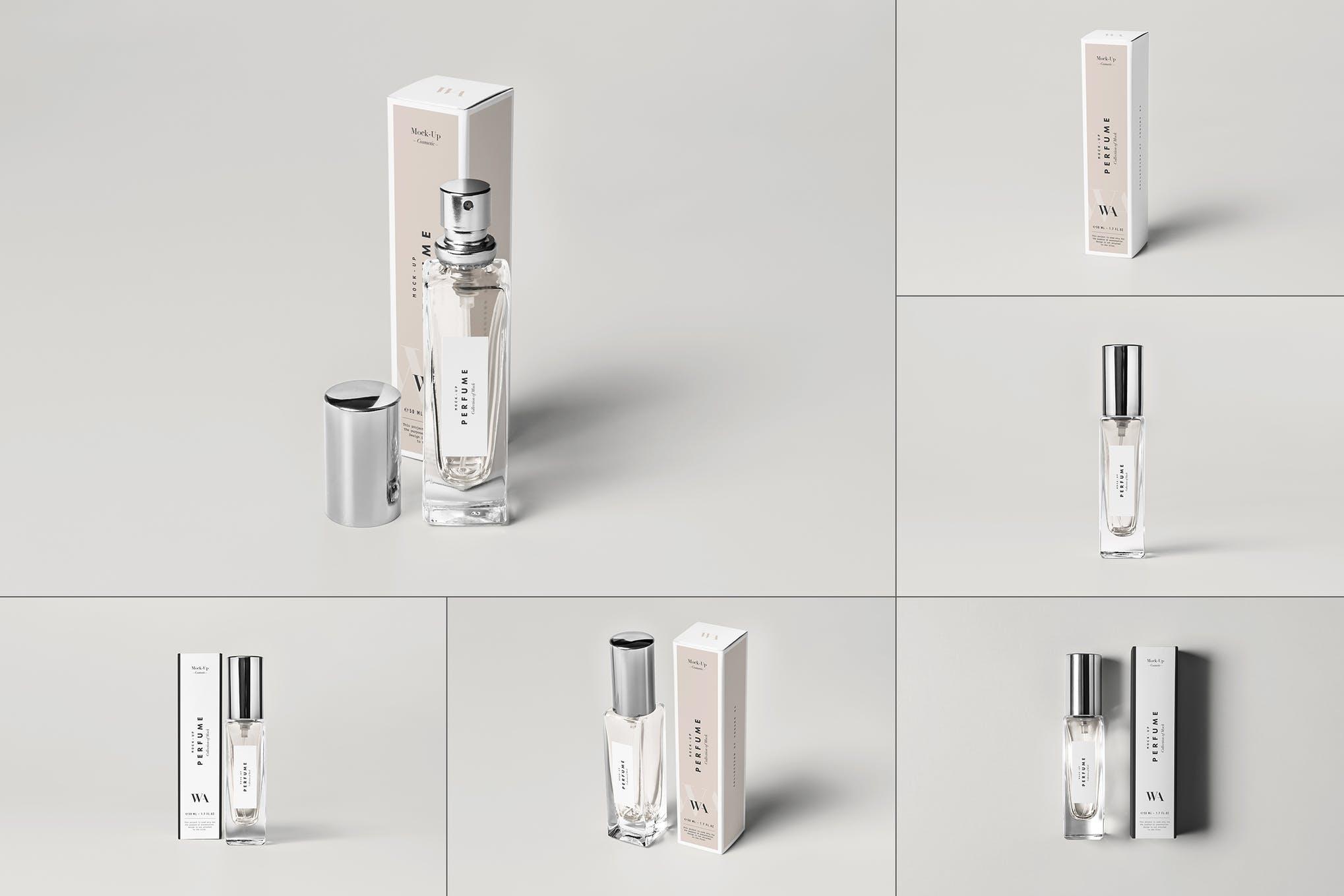 香水和包装盒样机效果图插图(1)