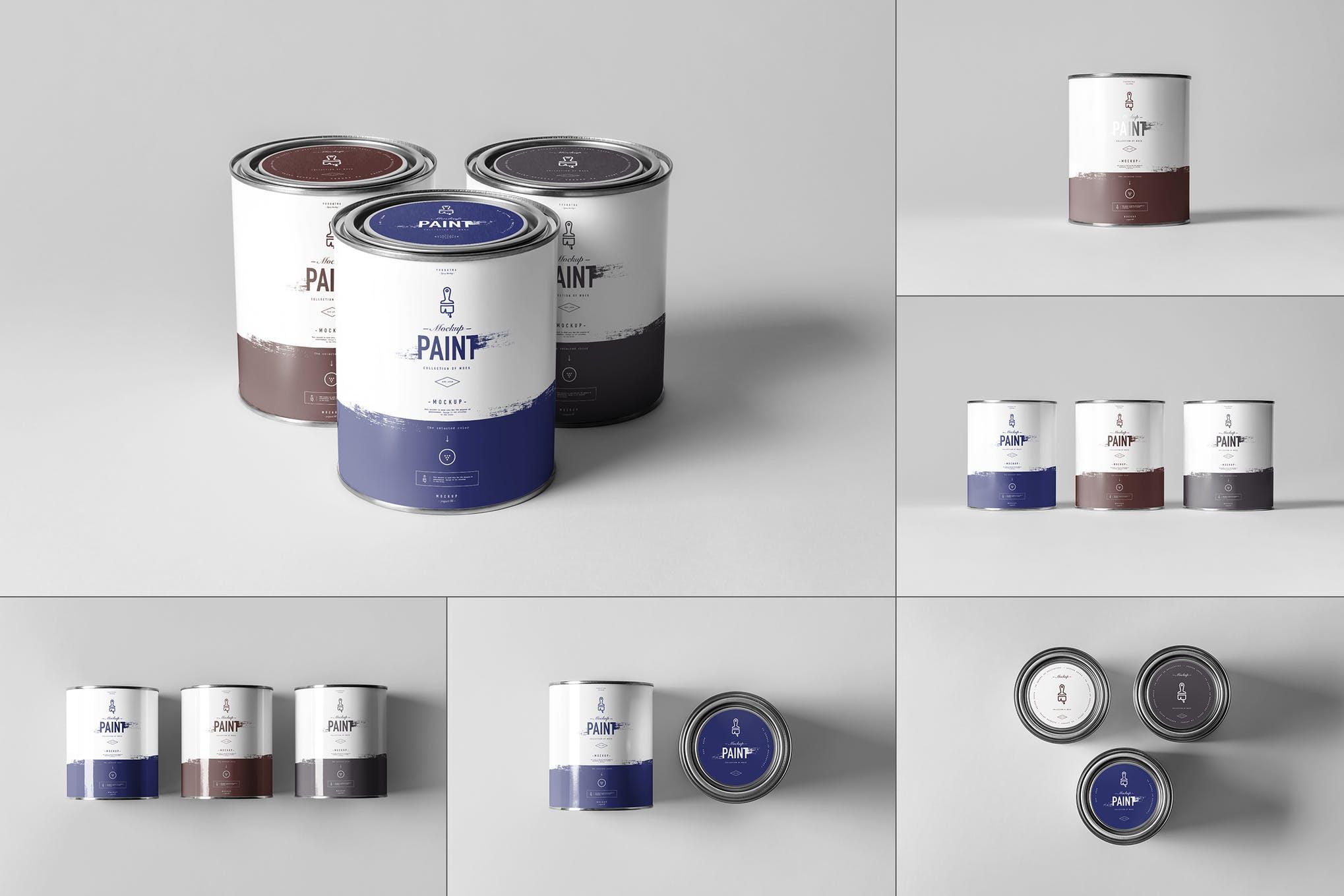 油漆桶油漆罐样机效果图插图(1)