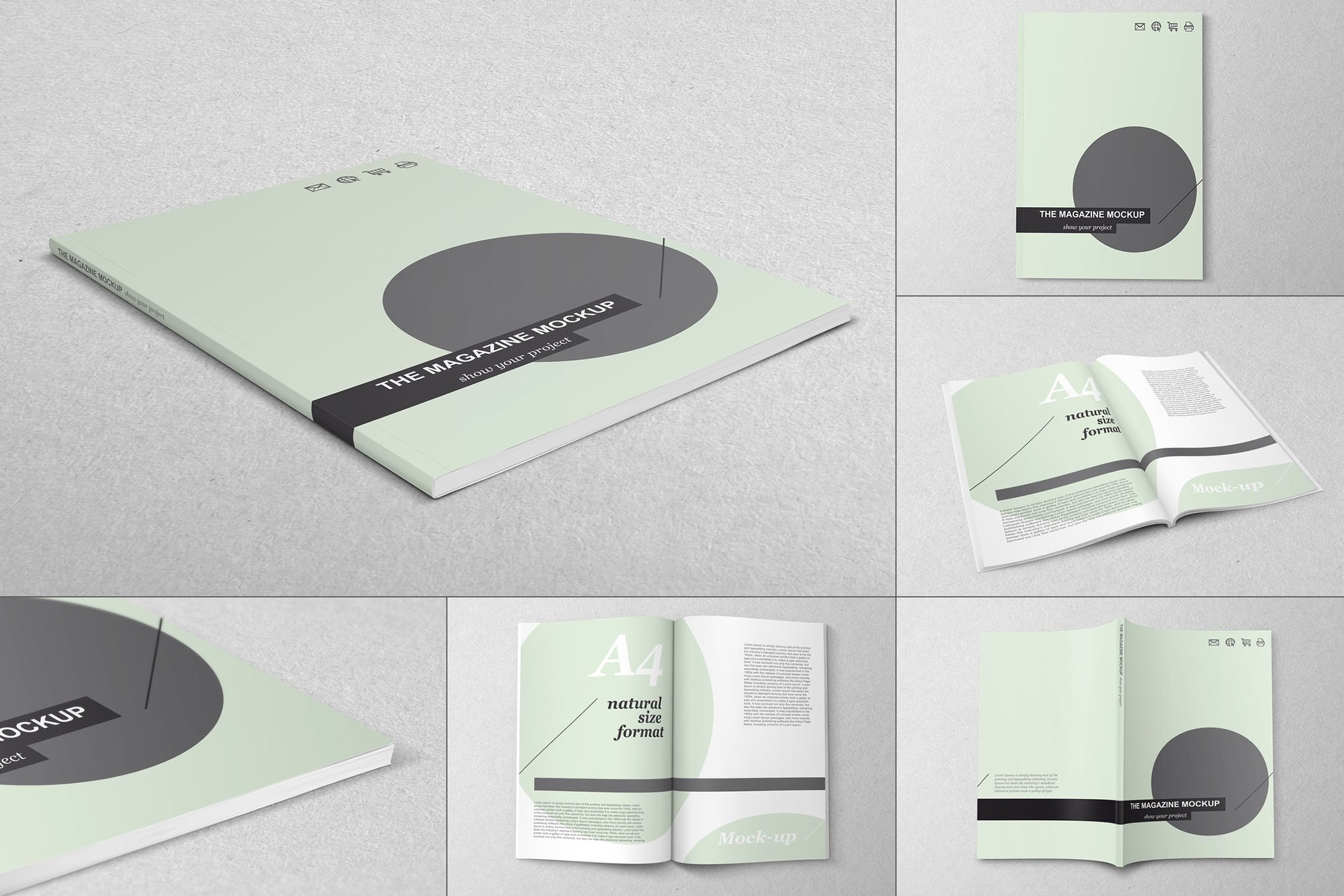 杂志书本画册A4样机效果图插图(1)