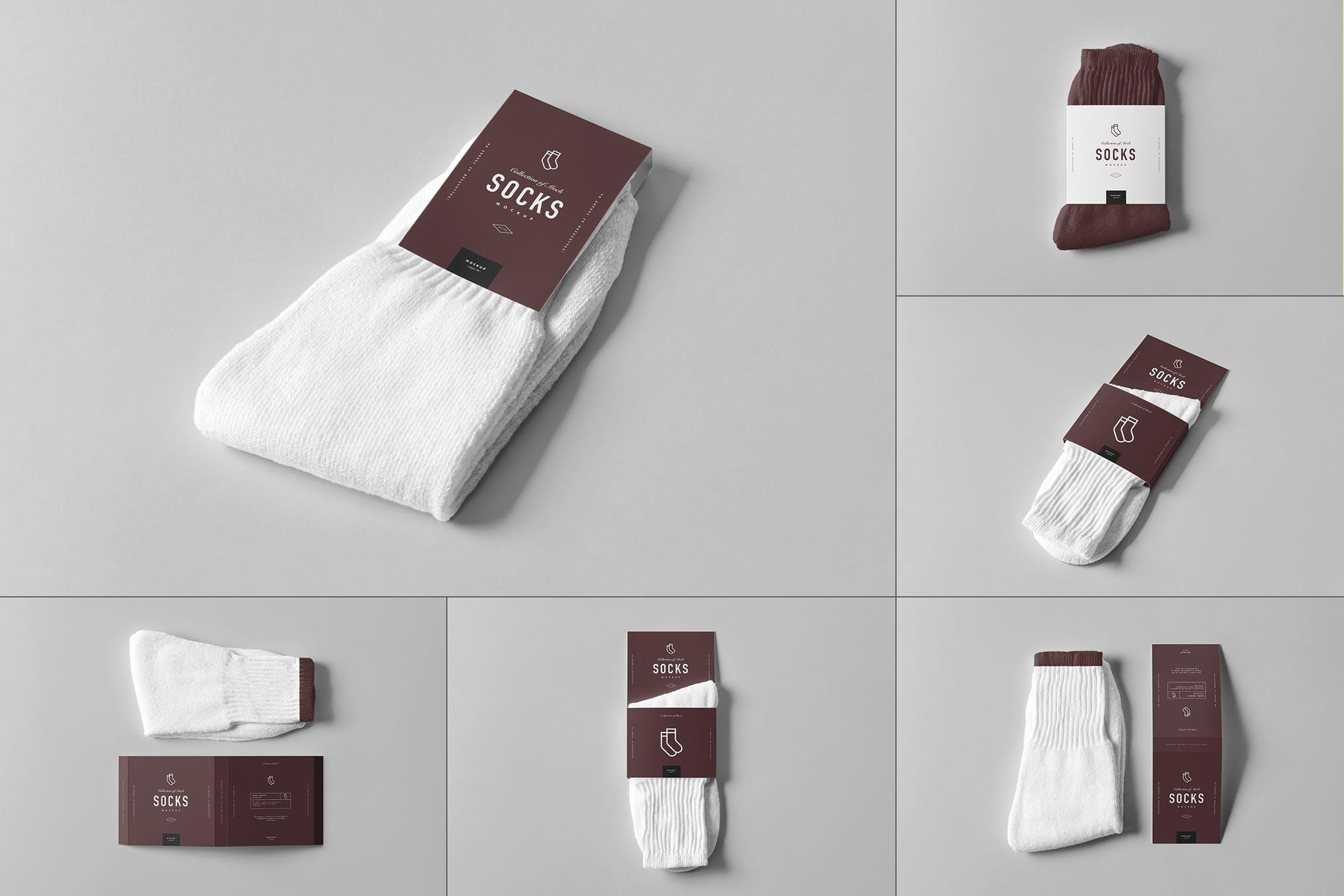 长袜足球袜样机效果图插图(1)